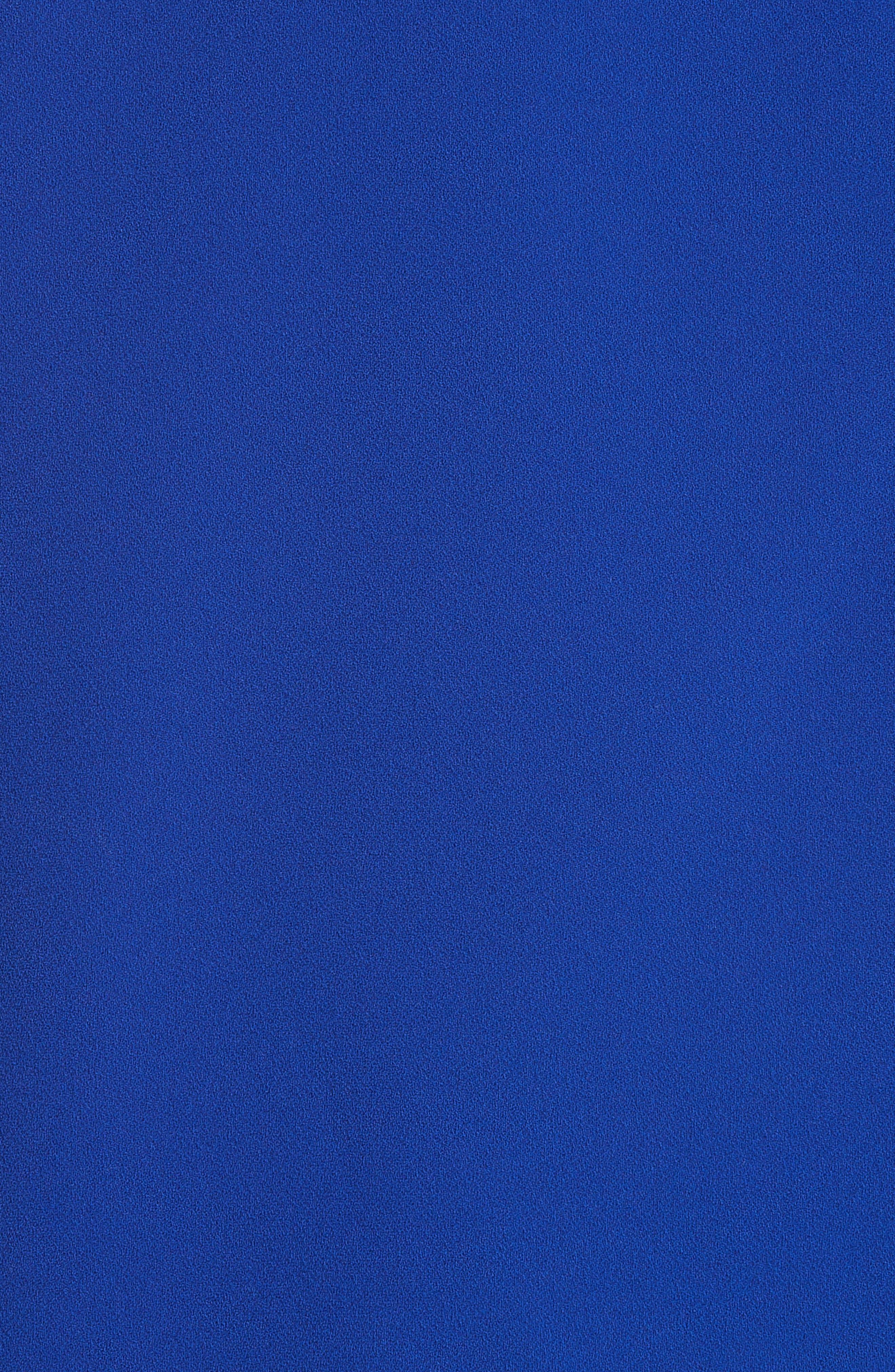 Awefa Cutout Crepe Blouse,                             Alternate thumbnail 5, color,                             Electric Blue