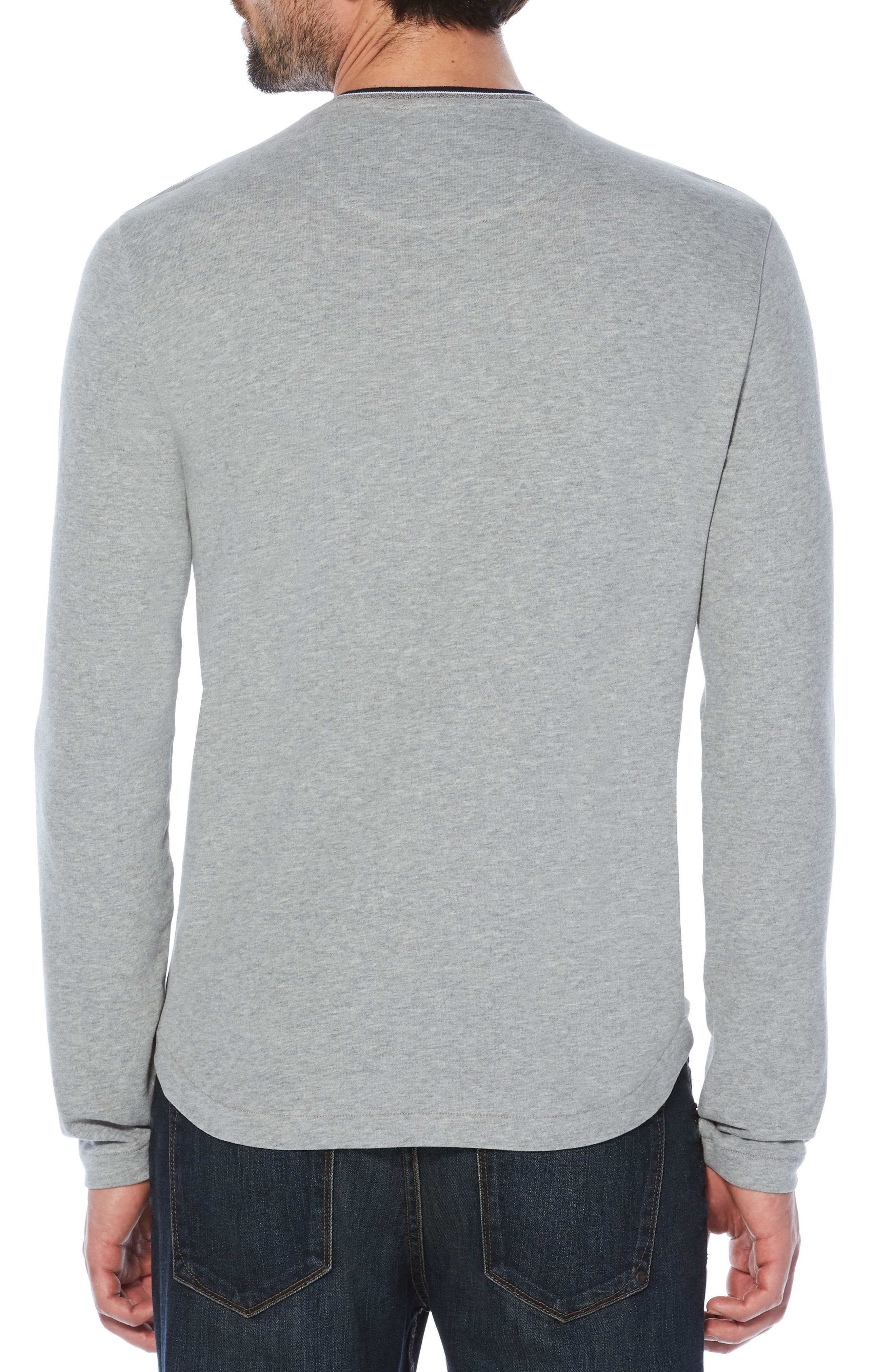 Sueded Tipped Henley,                             Alternate thumbnail 2, color,                             Athletic Grey Heather