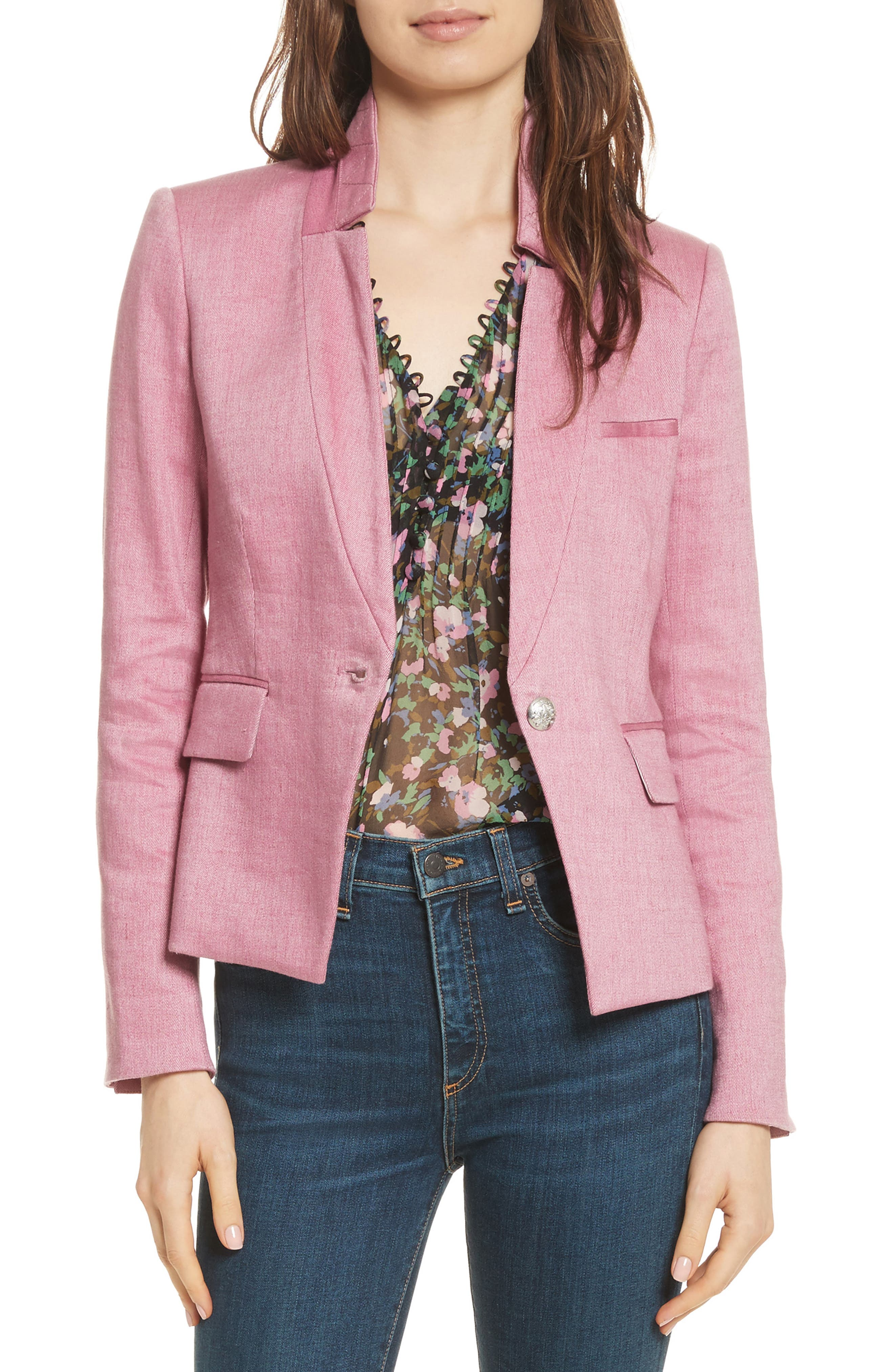 Veronica Beard Orchid Turn-Up Collar Jacket