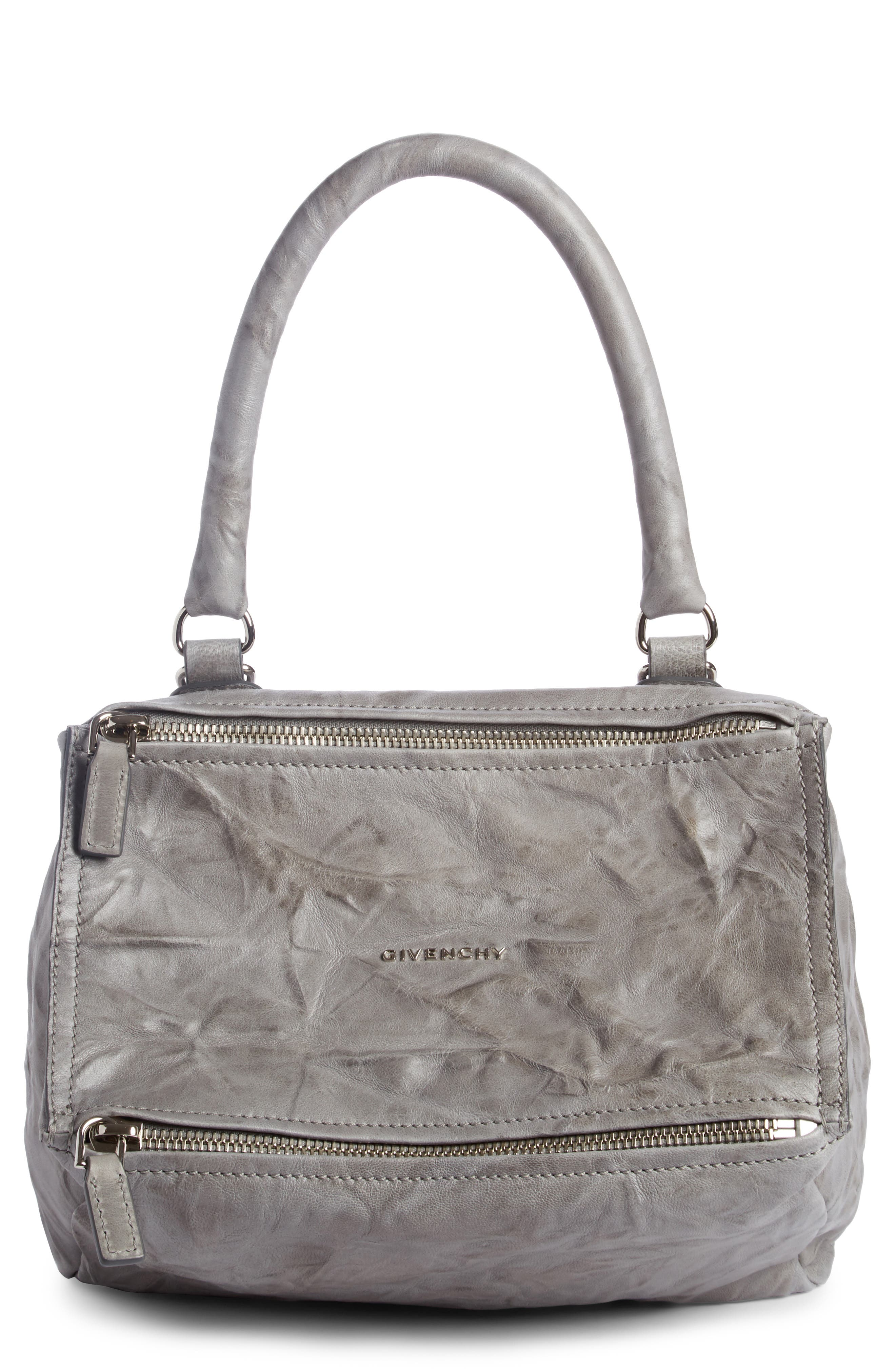 Small Pandora Calfskin Satchel,                         Main,                         color, Pearl Grey