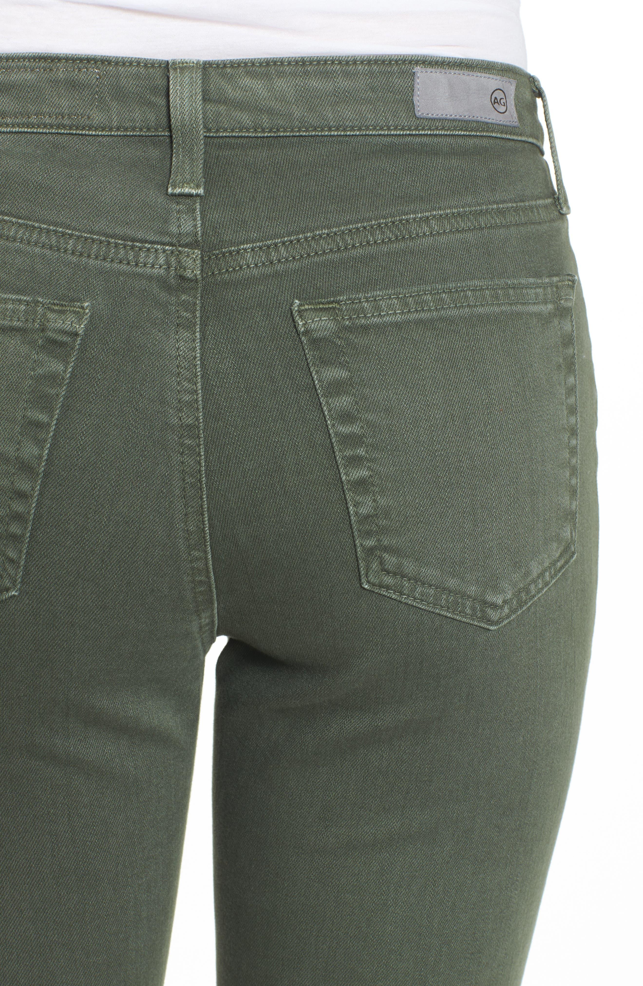 The Isabelle High Waist Crop Straight Leg Jeans,                             Alternate thumbnail 4, color,                             1 Year Sulfur Desert Pine
