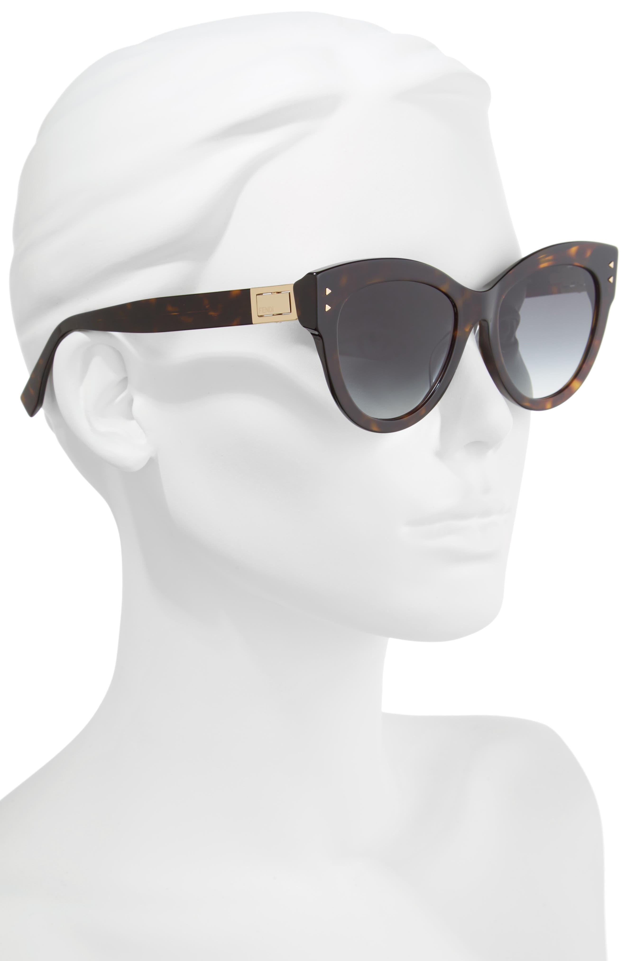 Alternate Image 2  - Fendi 54mm Special Fit Cat Eye Sunglasses