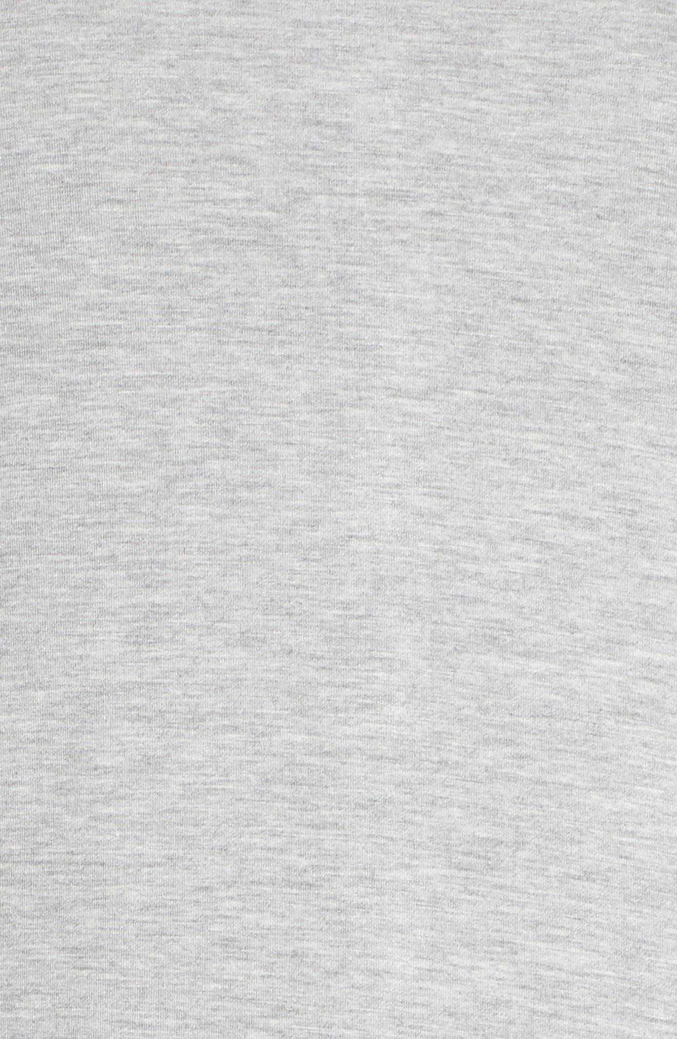 Long Night Shirt,                             Alternate thumbnail 6, color,                             Heather Grey Feeder Stripe