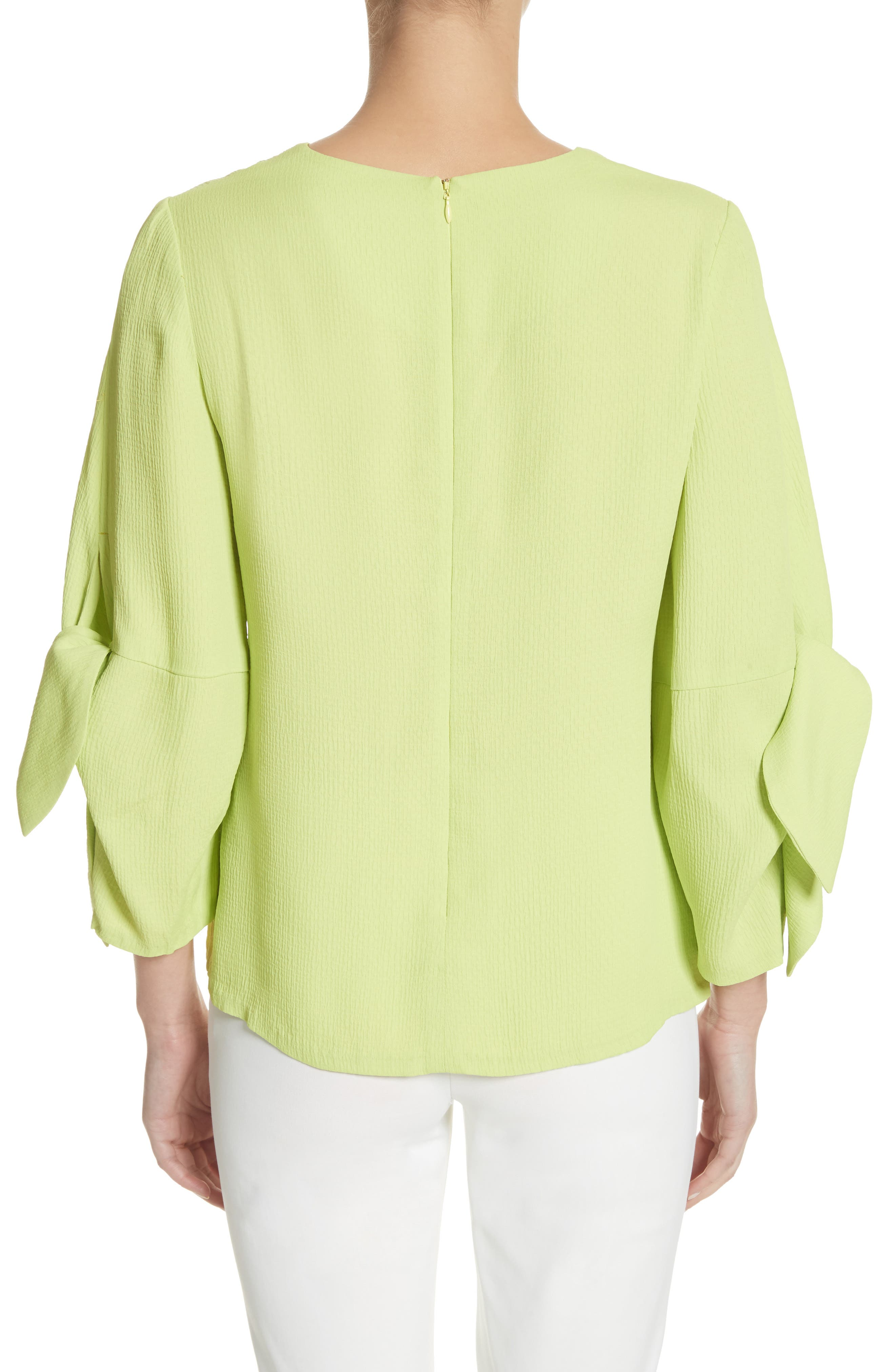 Tie Sleeve Top,                             Alternate thumbnail 2, color,                             Lime
