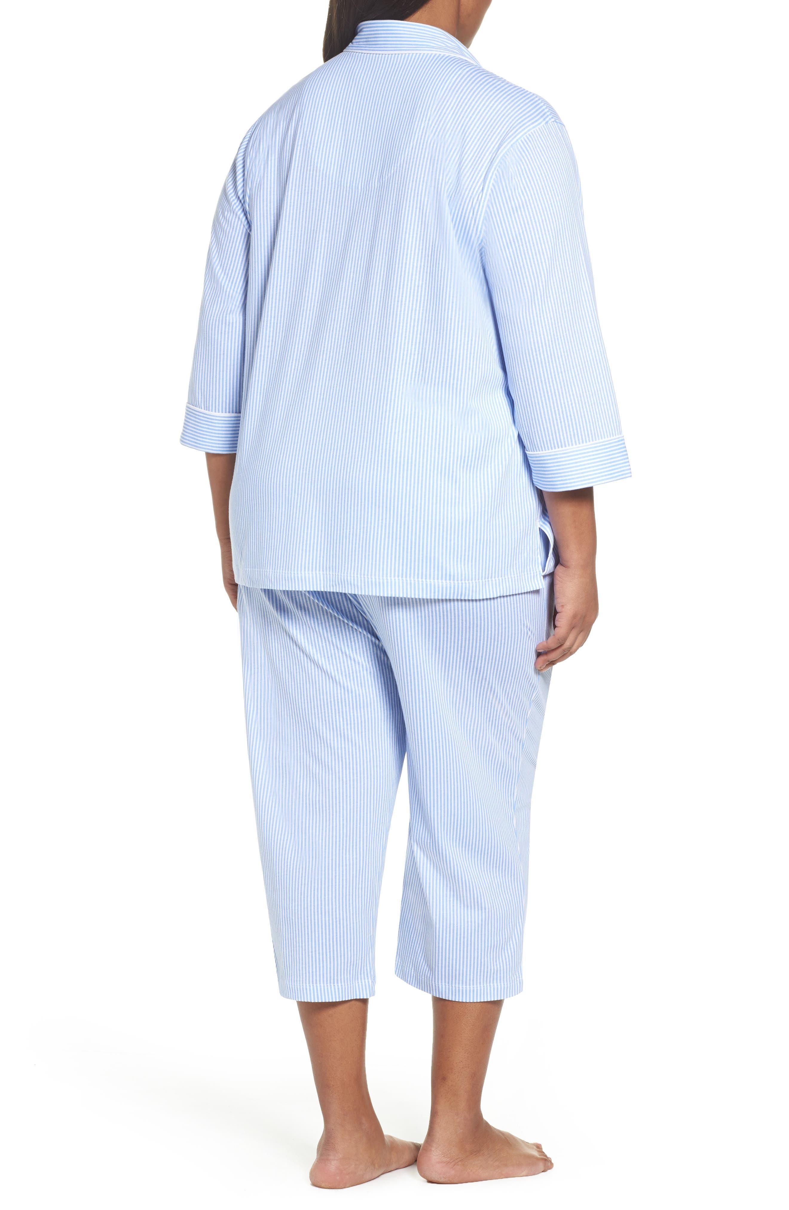 Alternate Image 2  - Lauren Ralph Lauren Bermuda Pajamas (Plus Size)