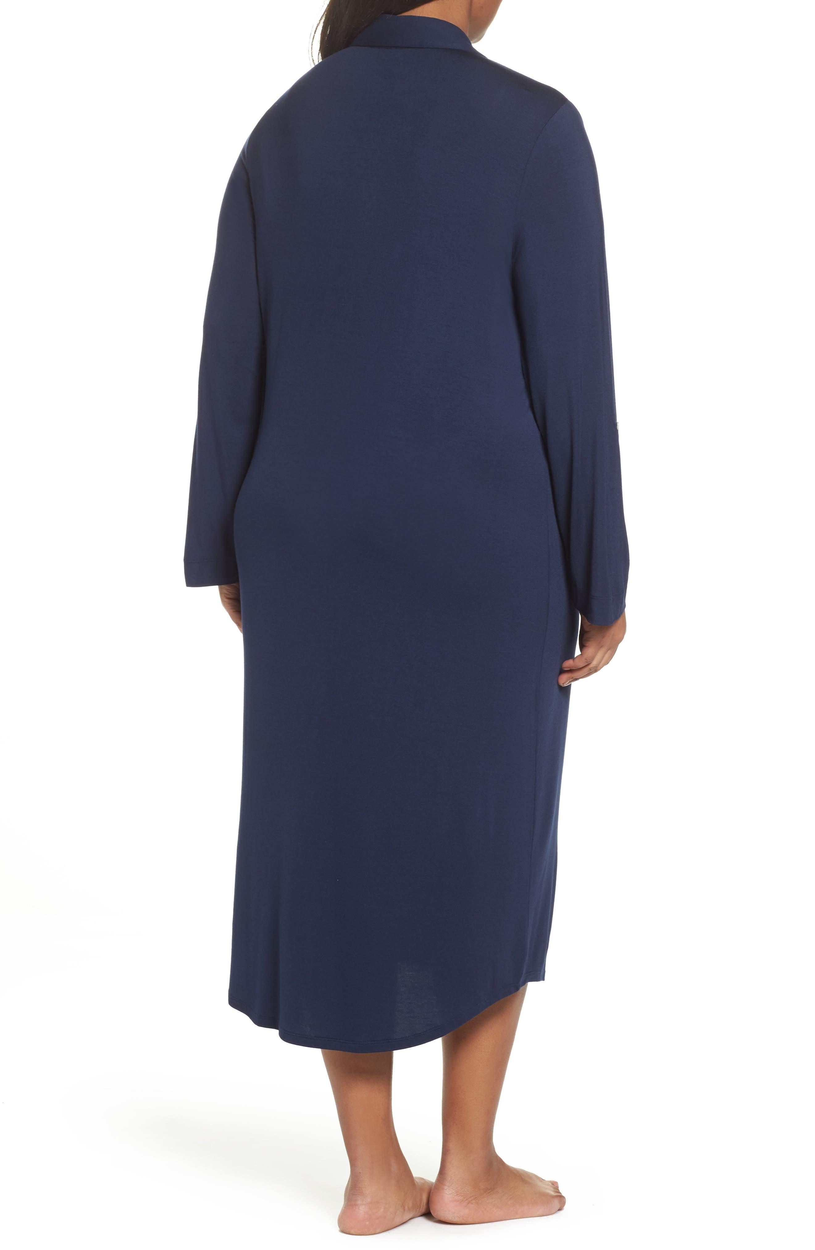 Alternate Image 2  - Lauren Ralph Lauren Long Nightshirt (Plus Size)