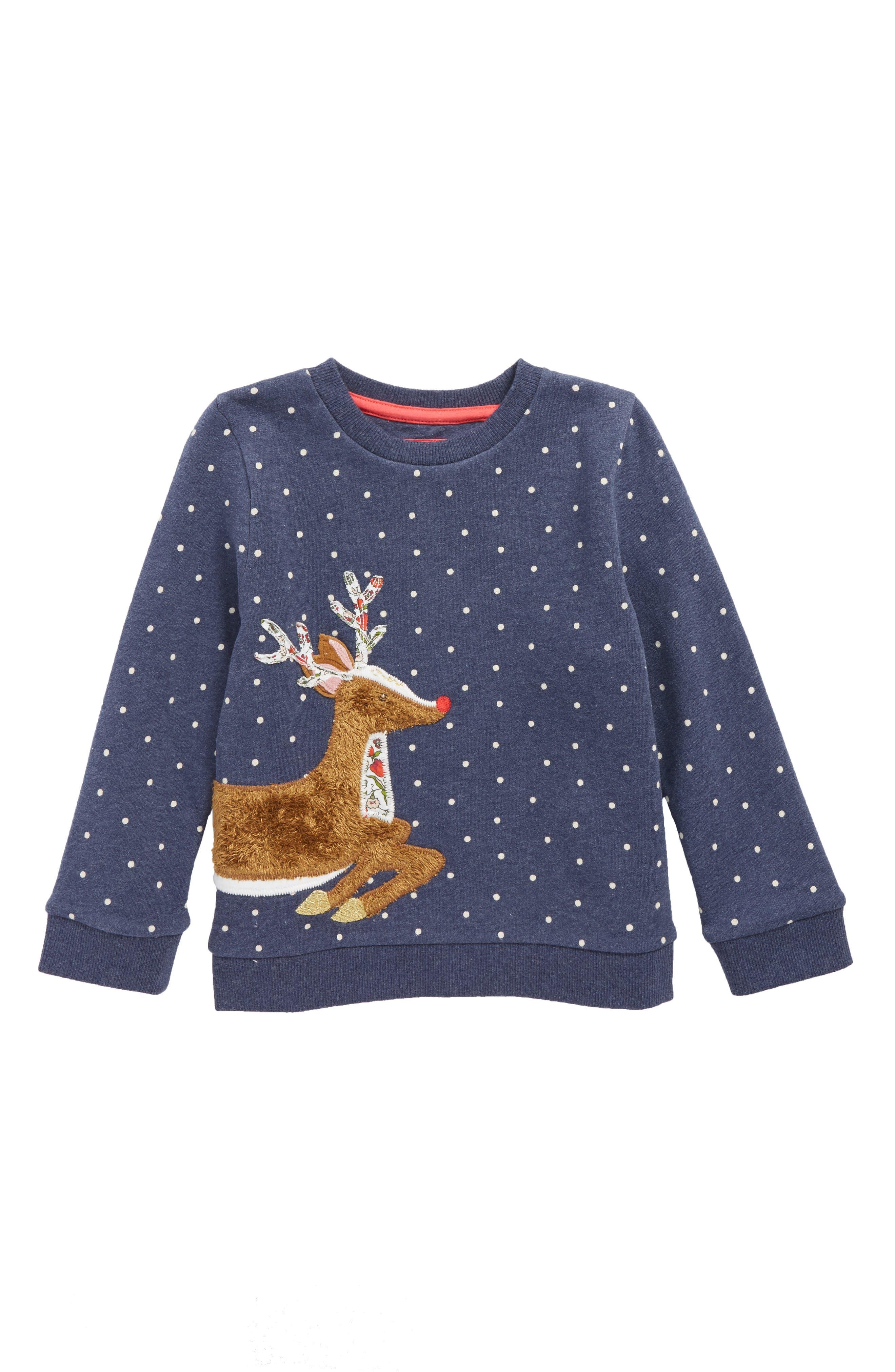 Mini Boden Fluffy Friends Sweatshirt (Toddler Girls, Little Girls & Big Girls)