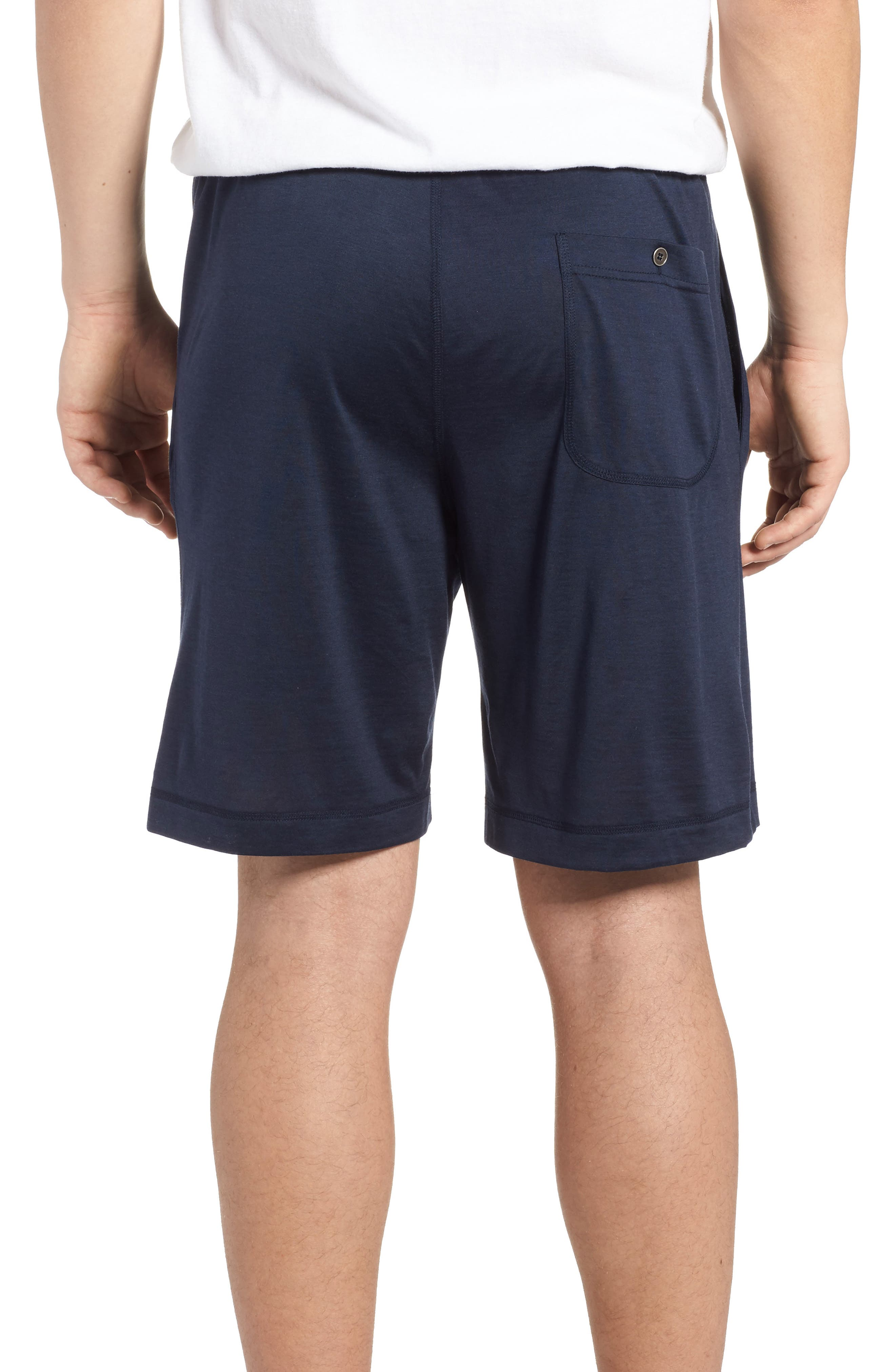 Silk & Cotton Lounge Shorts,                             Alternate thumbnail 2, color,                             Midnight