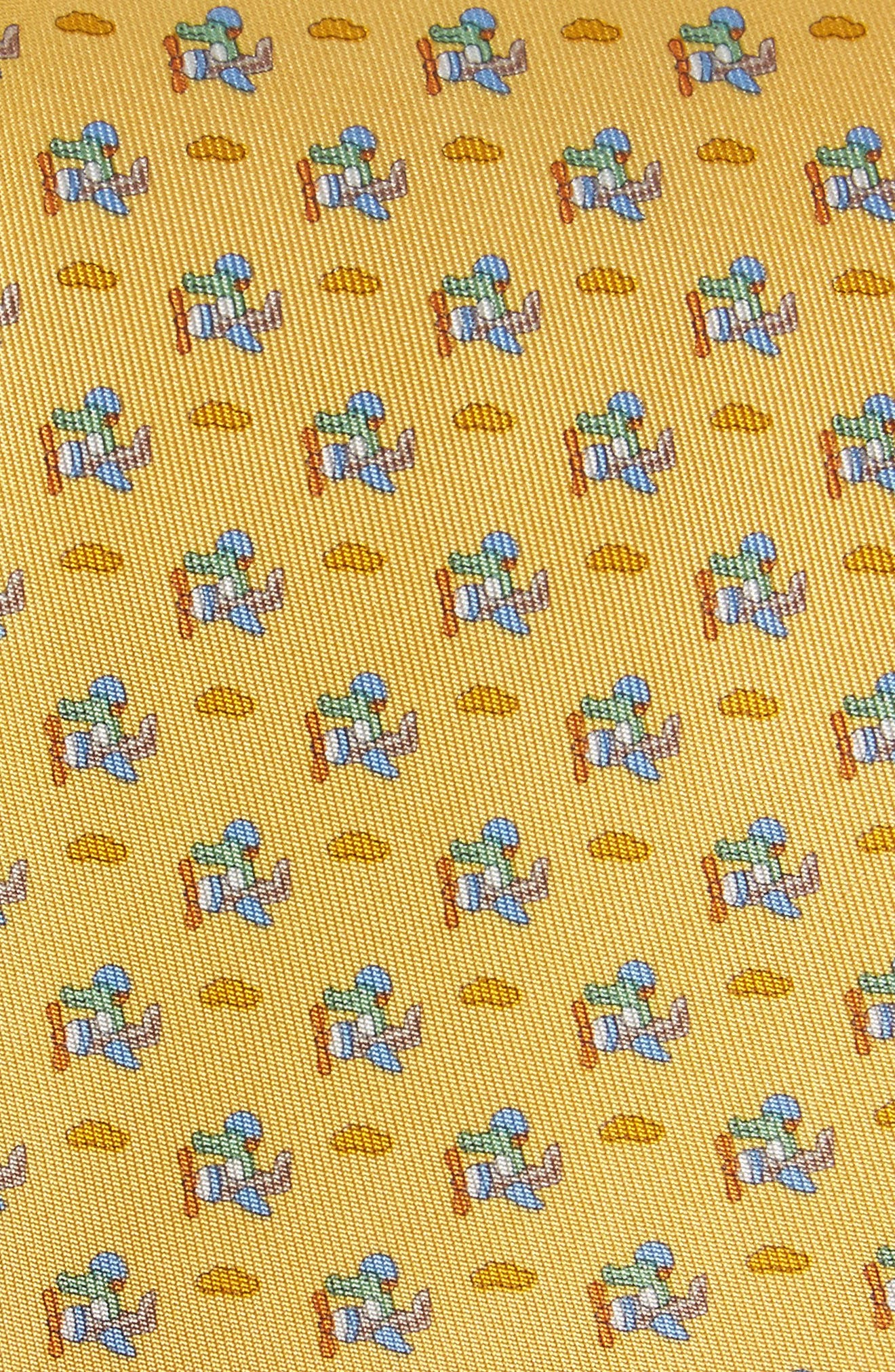 Ercole Print Silk Tie,                             Alternate thumbnail 2, color,                             Yellow