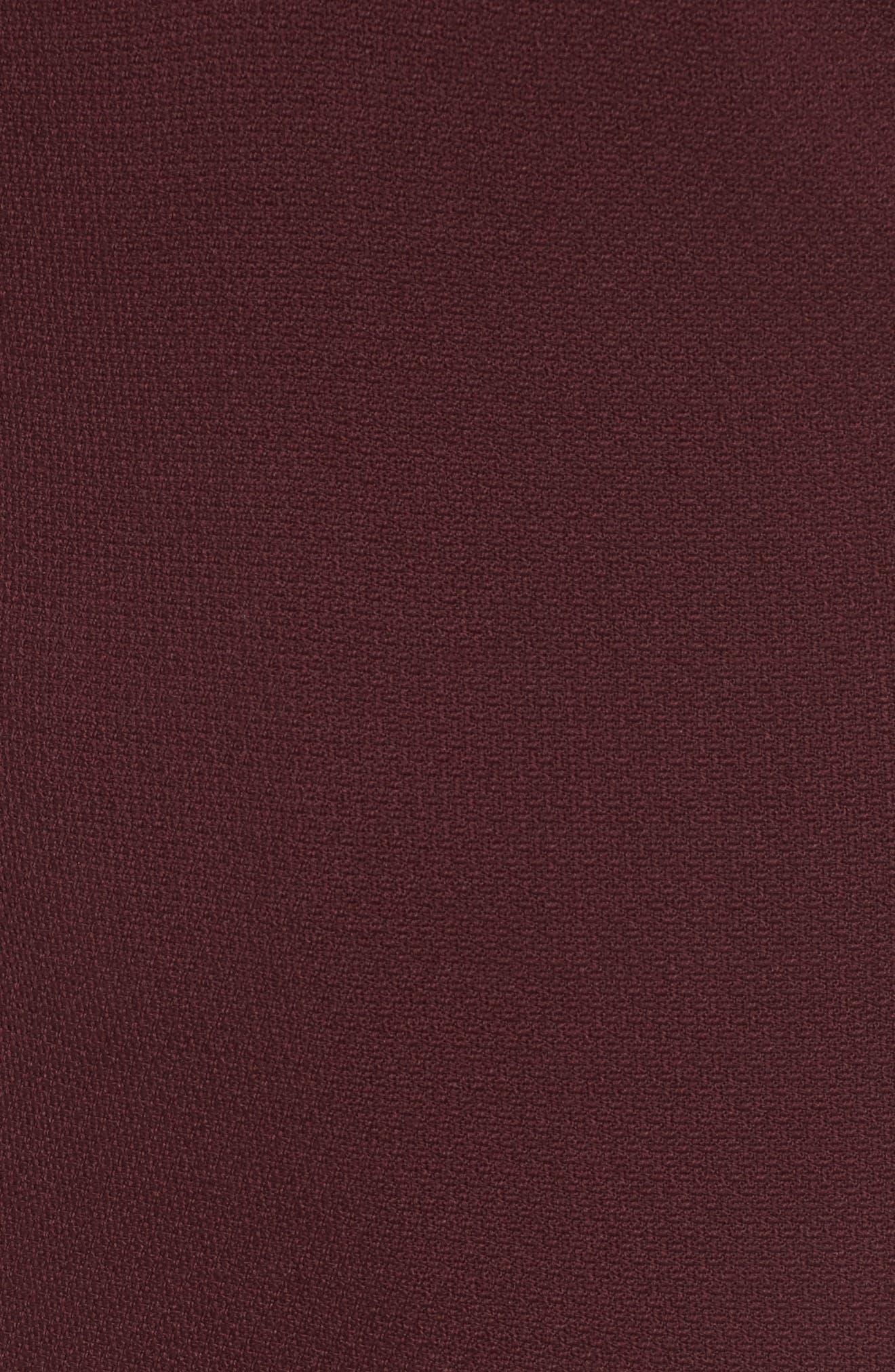 Domandia Stretch Wool Sheath Dress,                             Alternate thumbnail 5, color,                             Mulberry