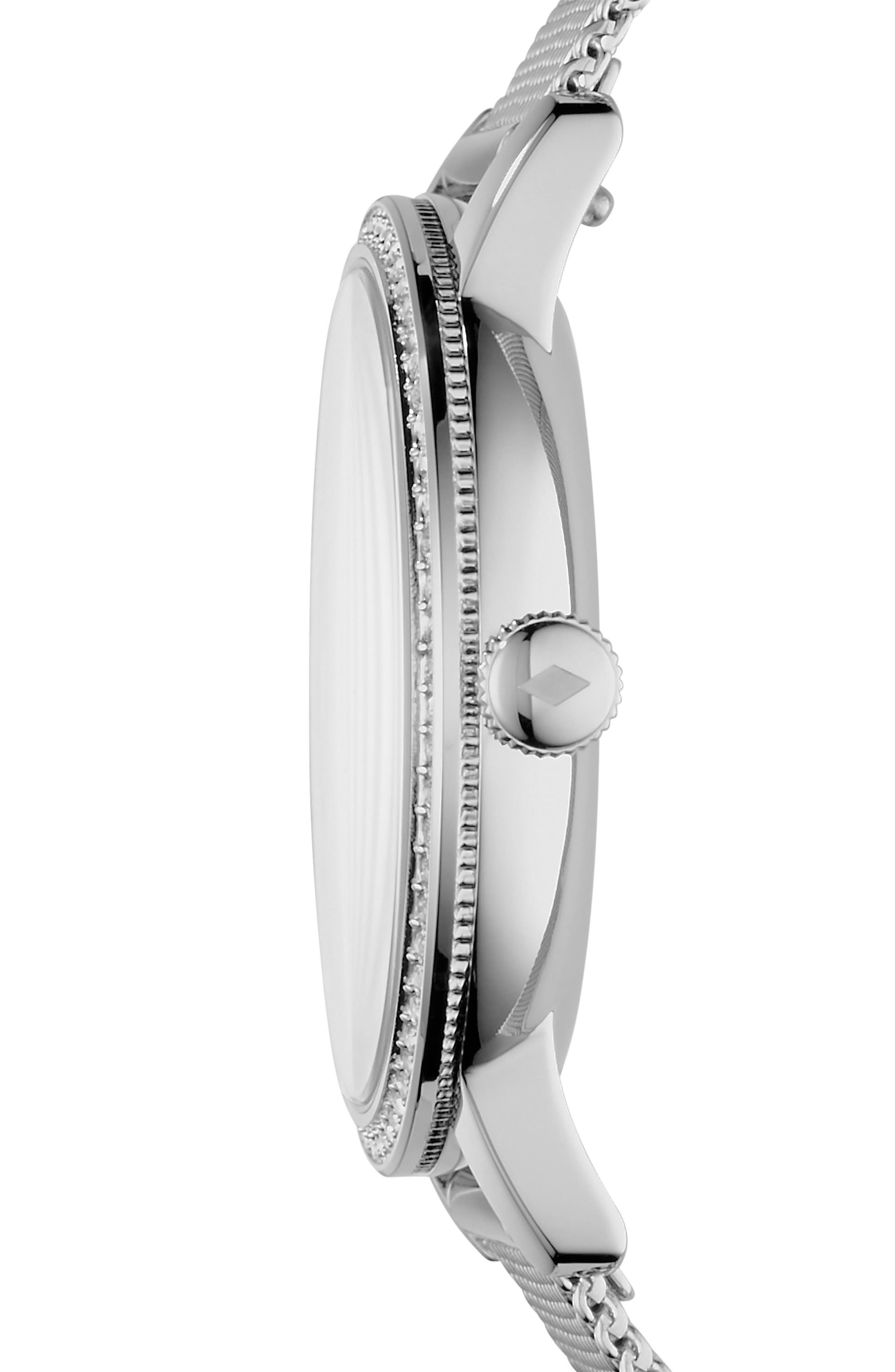 Neely Mesh Strap Watch, 34mm,                             Alternate thumbnail 2, color,                             Silver/ Grey/ Silver
