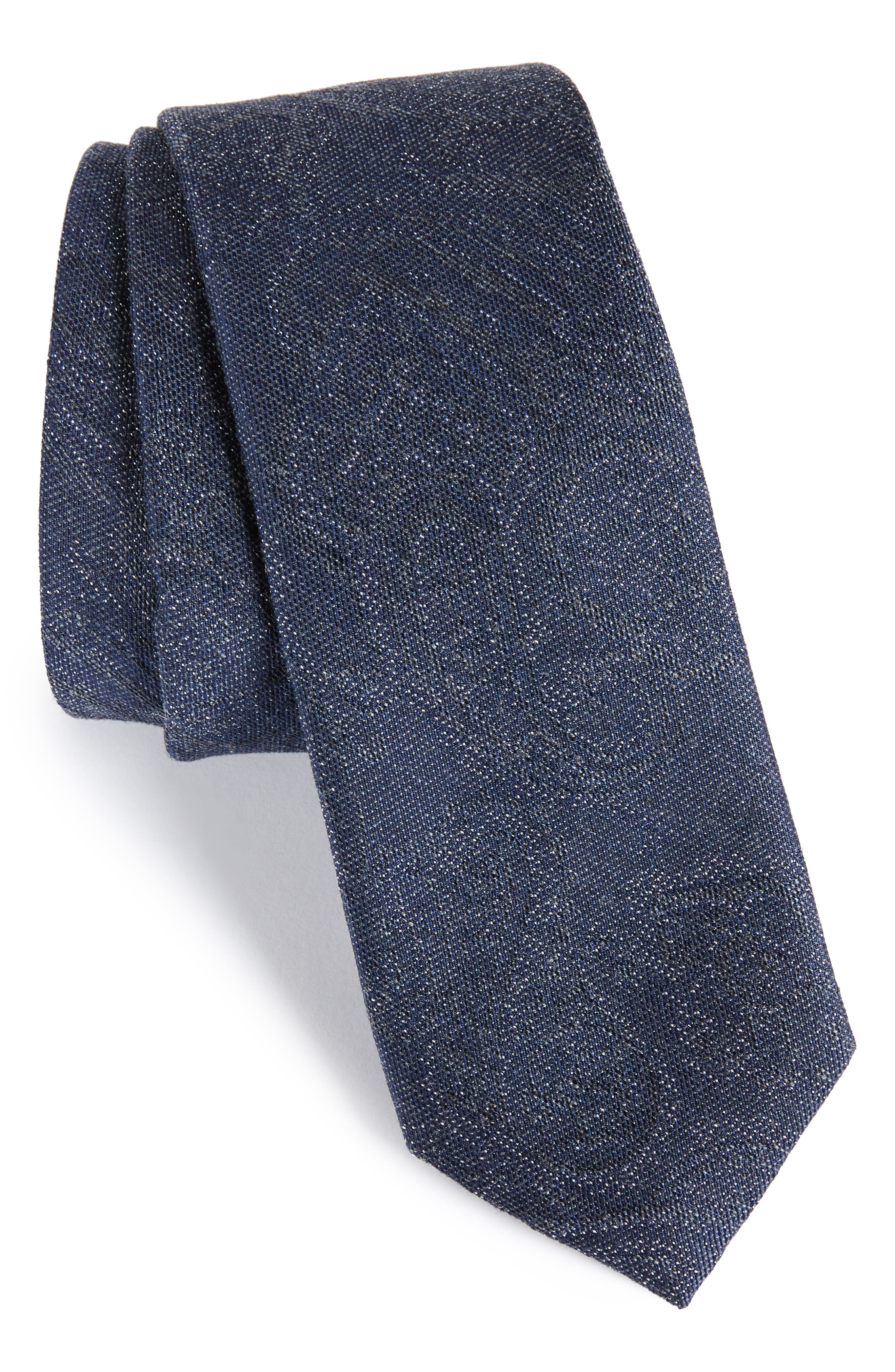 Syne Paisley Silk Blend Tie,                             Main thumbnail 1, color,                             Navy