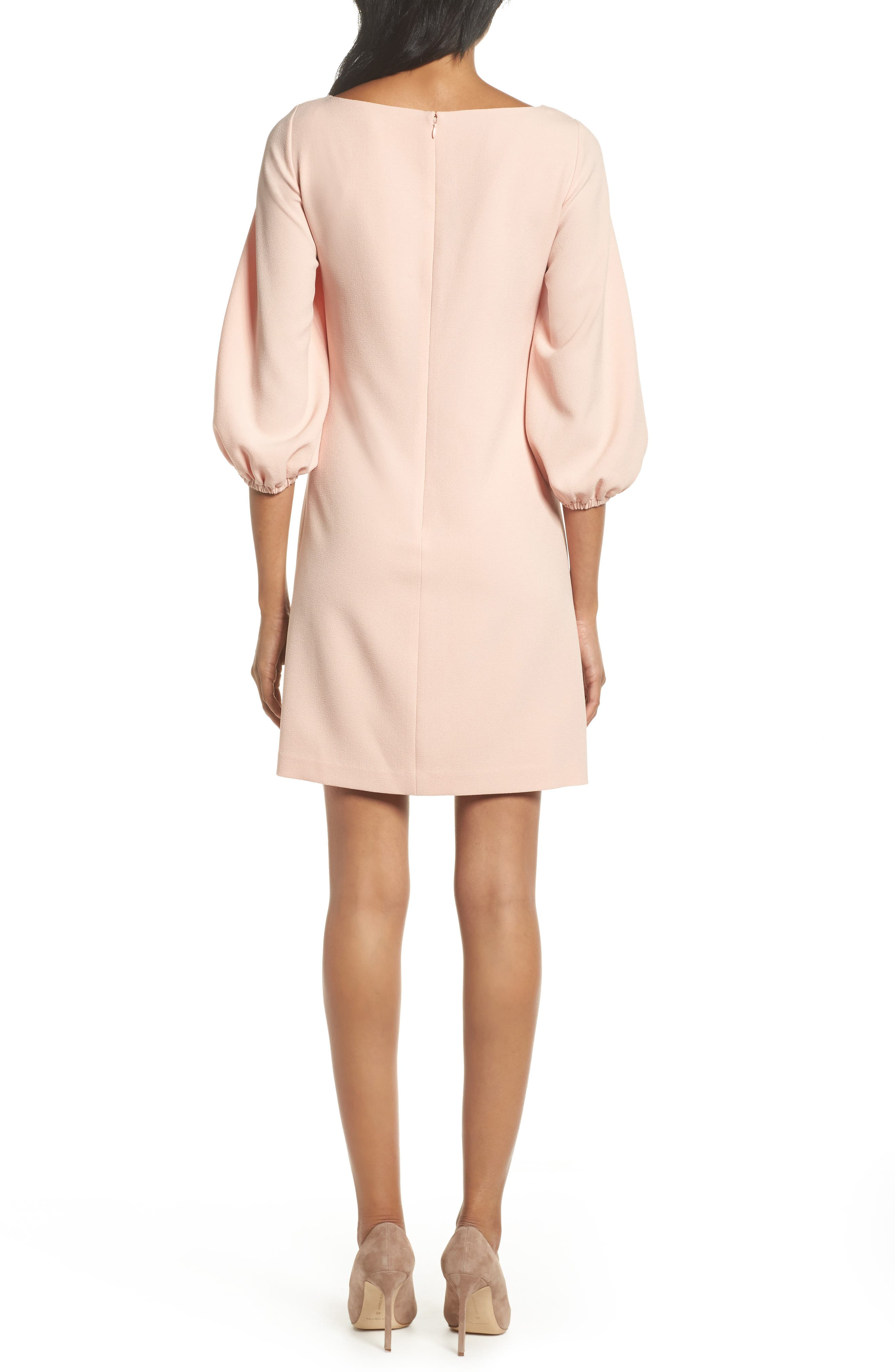 Bloused Sleeve Shift Dress,                             Alternate thumbnail 2, color,                             Blush