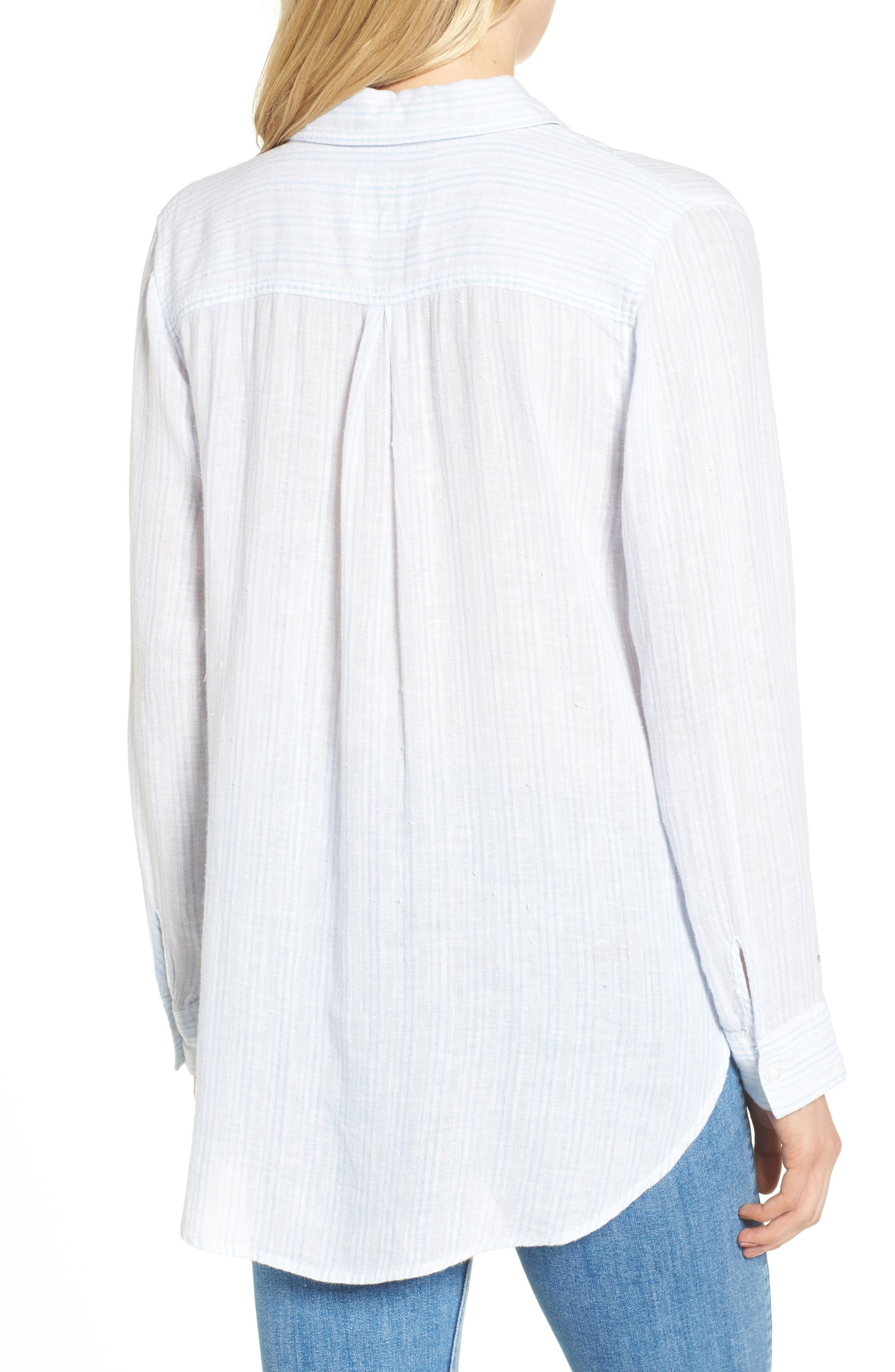 Charli Stripe Shirt,                             Alternate thumbnail 2, color,                             Playa Stripe