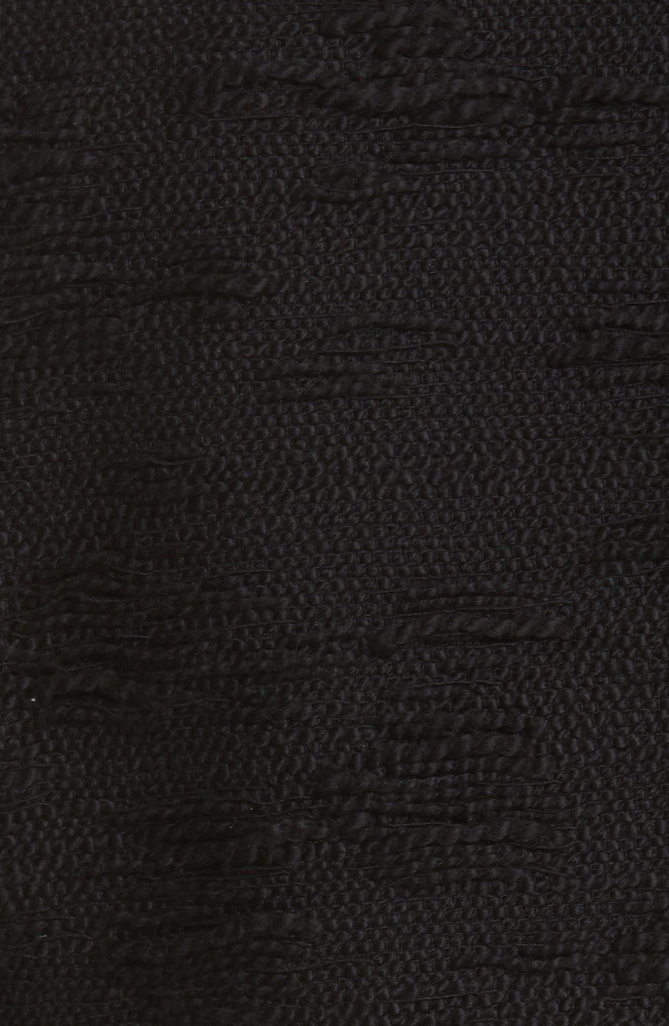Lace Trim Boxy Jacket,                             Alternate thumbnail 5, color,                             Black