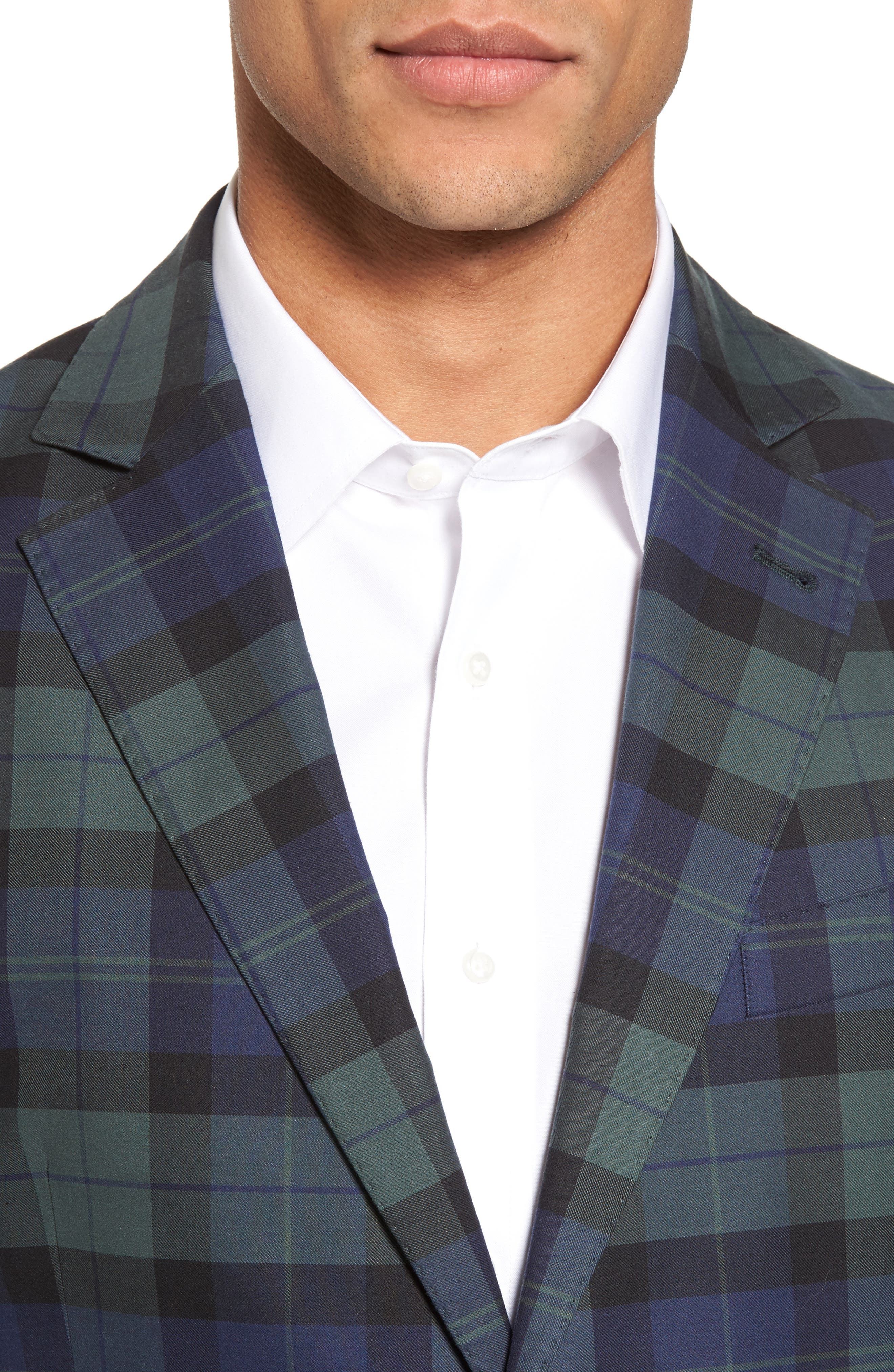 Alternate Image 4  - vineyard vines Classic Fit Blackwatch Plaid Sport Coat
