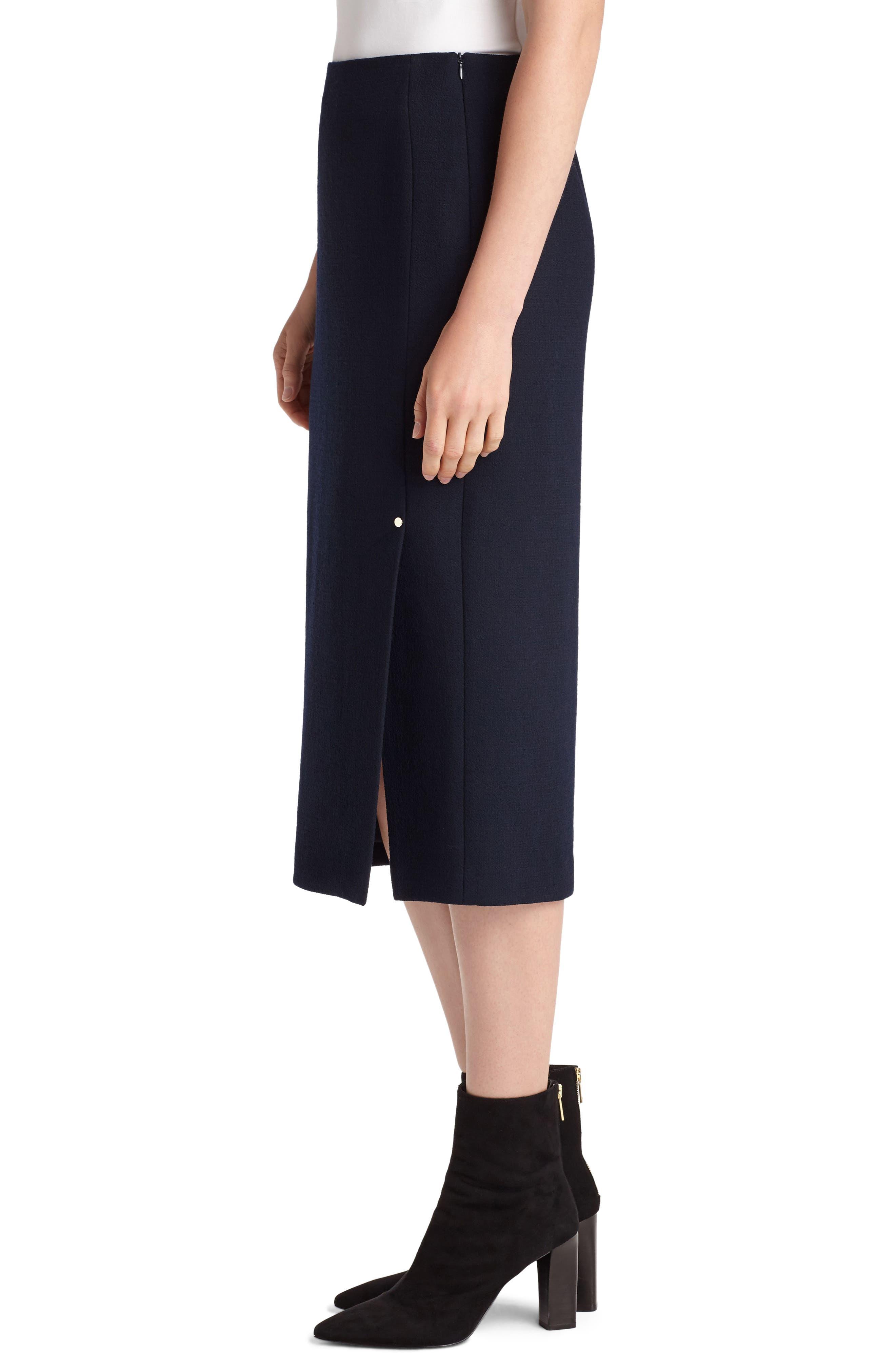 Lucina Nouveau Crepe Skirt,                             Alternate thumbnail 3, color,                             Ink