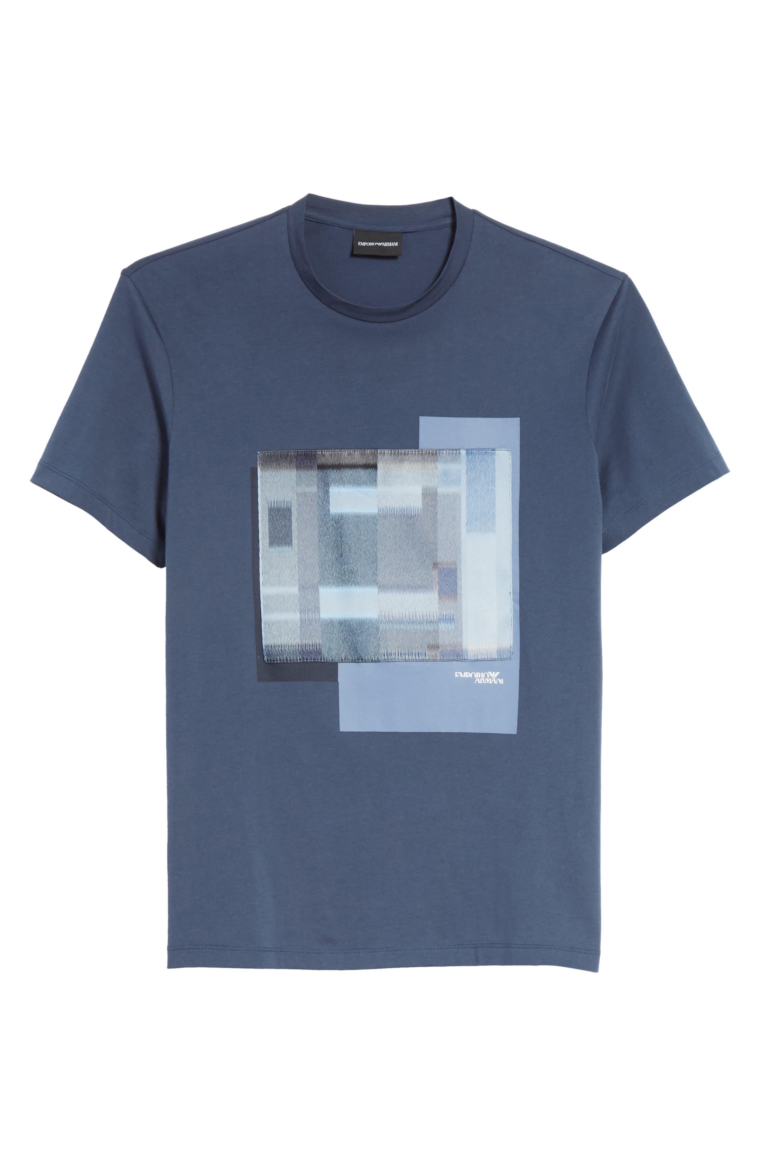 Colorblock Crewneck T-Shirt,                             Alternate thumbnail 6, color,                             Bluette