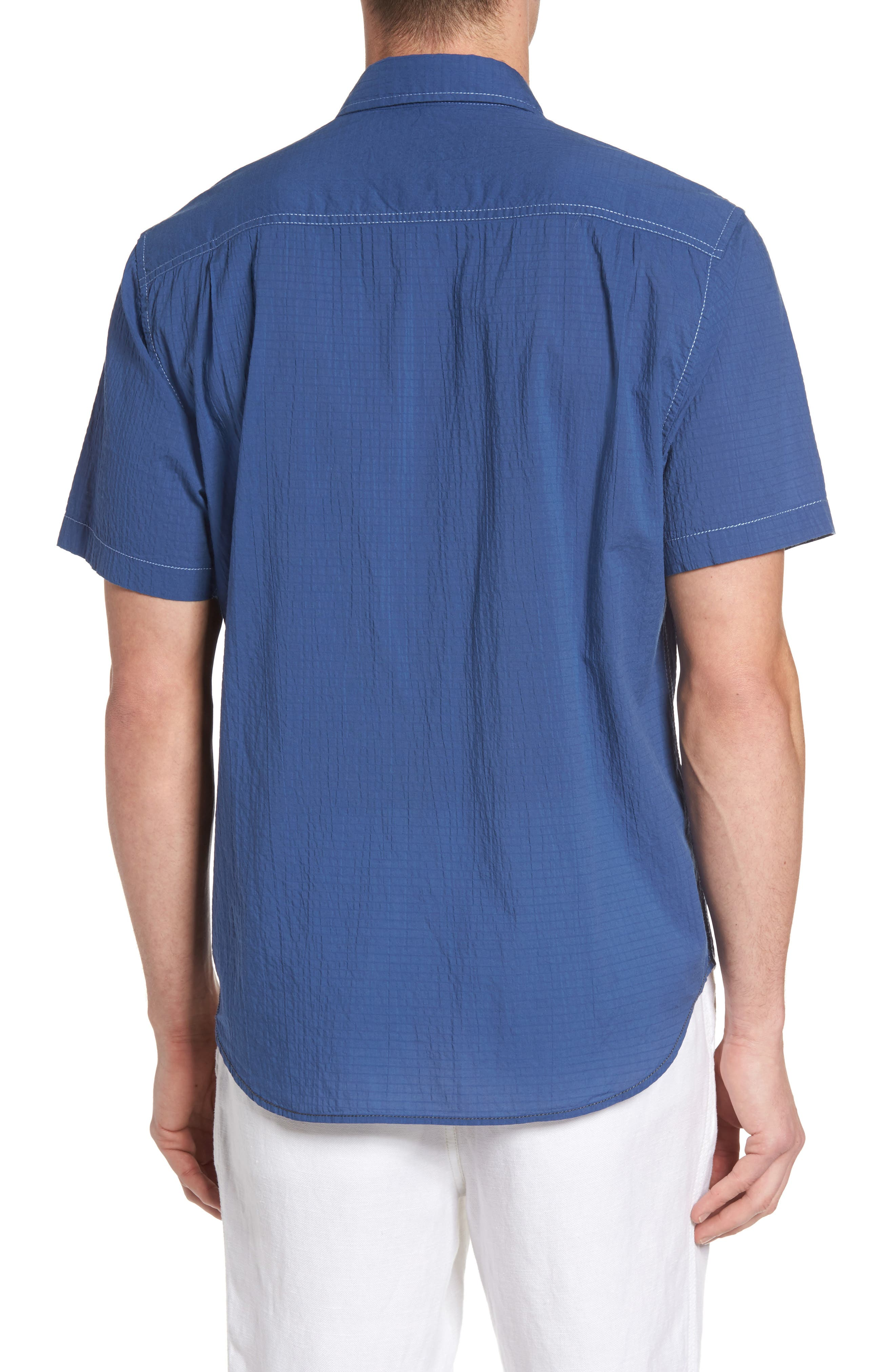 The Salvatore Sport Shirt,                             Alternate thumbnail 2, color,                             Dockside Blue