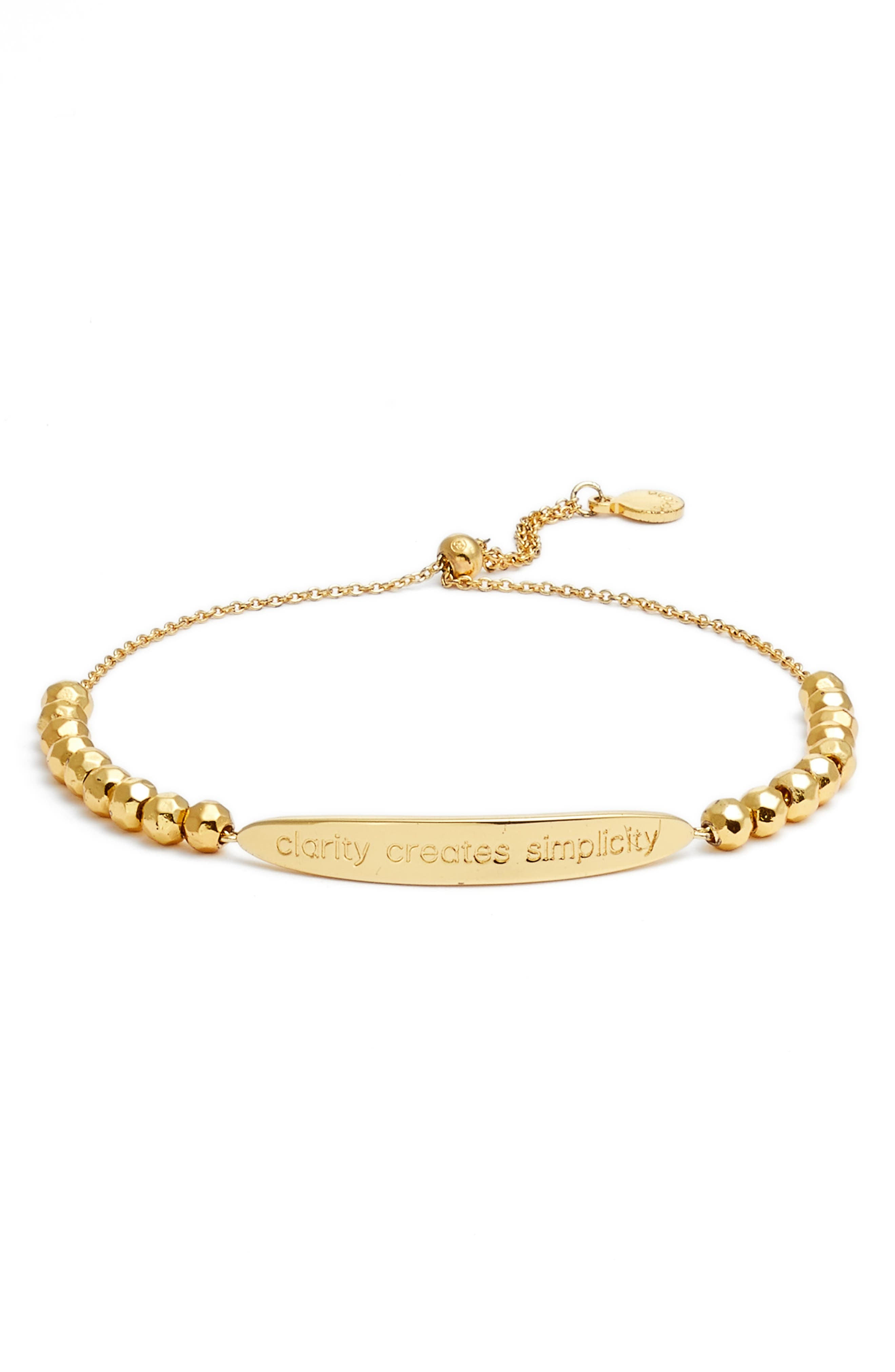 Power Intention Clarity Creates Simplicity Bangle,                         Main,                         color, Gold