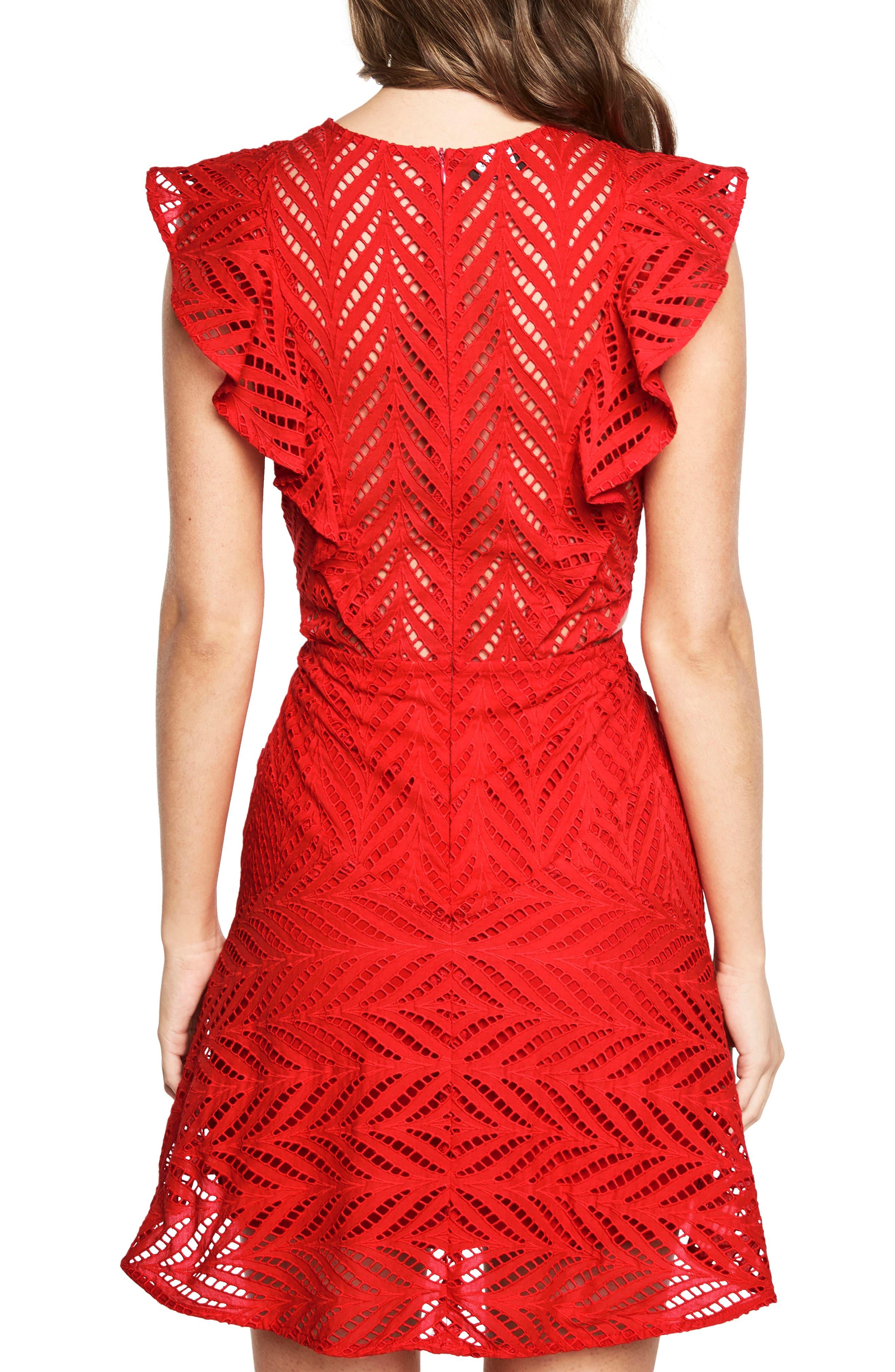 Alternate Image 2  - Bardot Kira Crochet Ruffle Dress