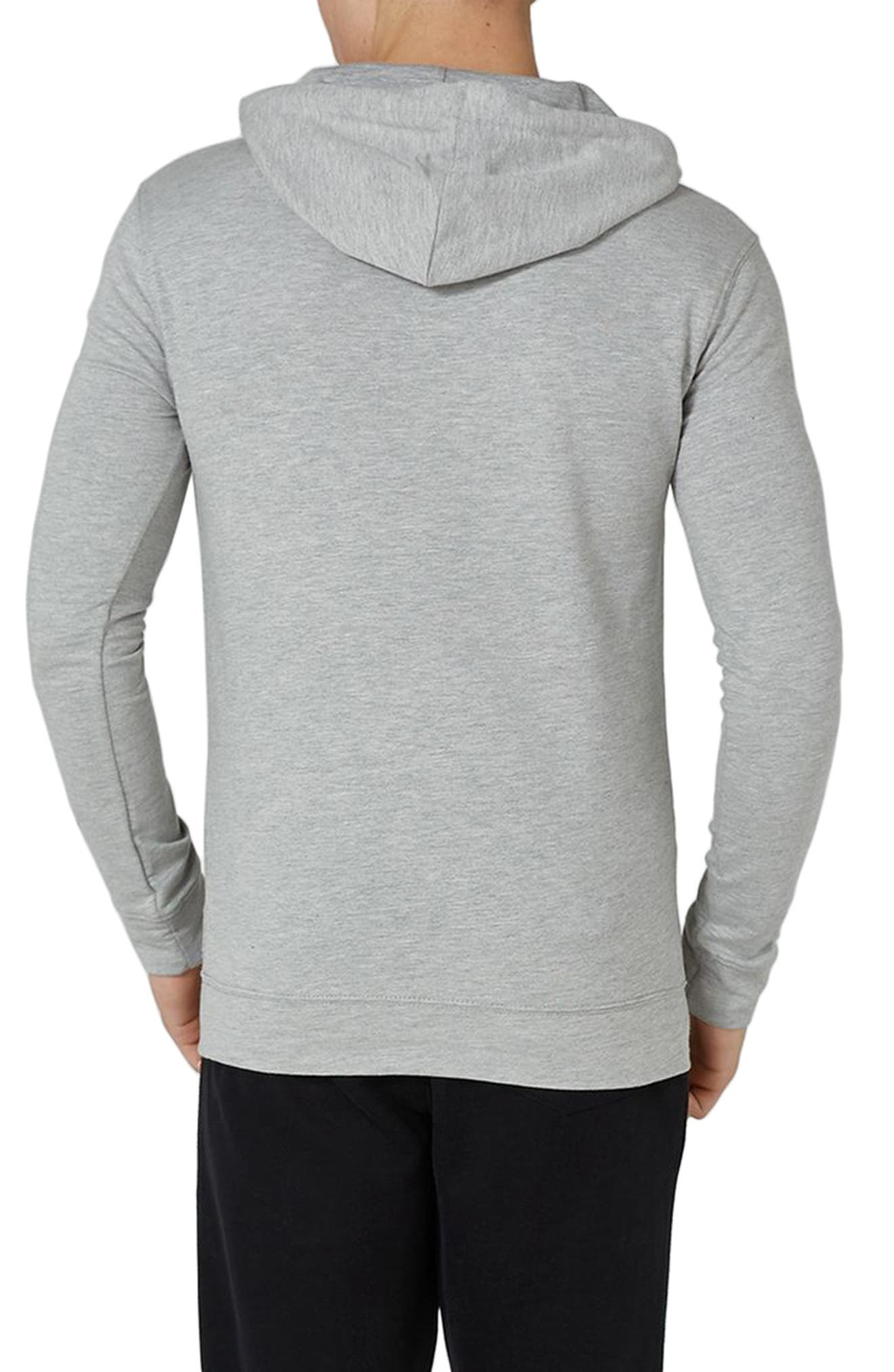 Ultra Muscle Fit Hoodie,                             Alternate thumbnail 2, color,                             Light Grey