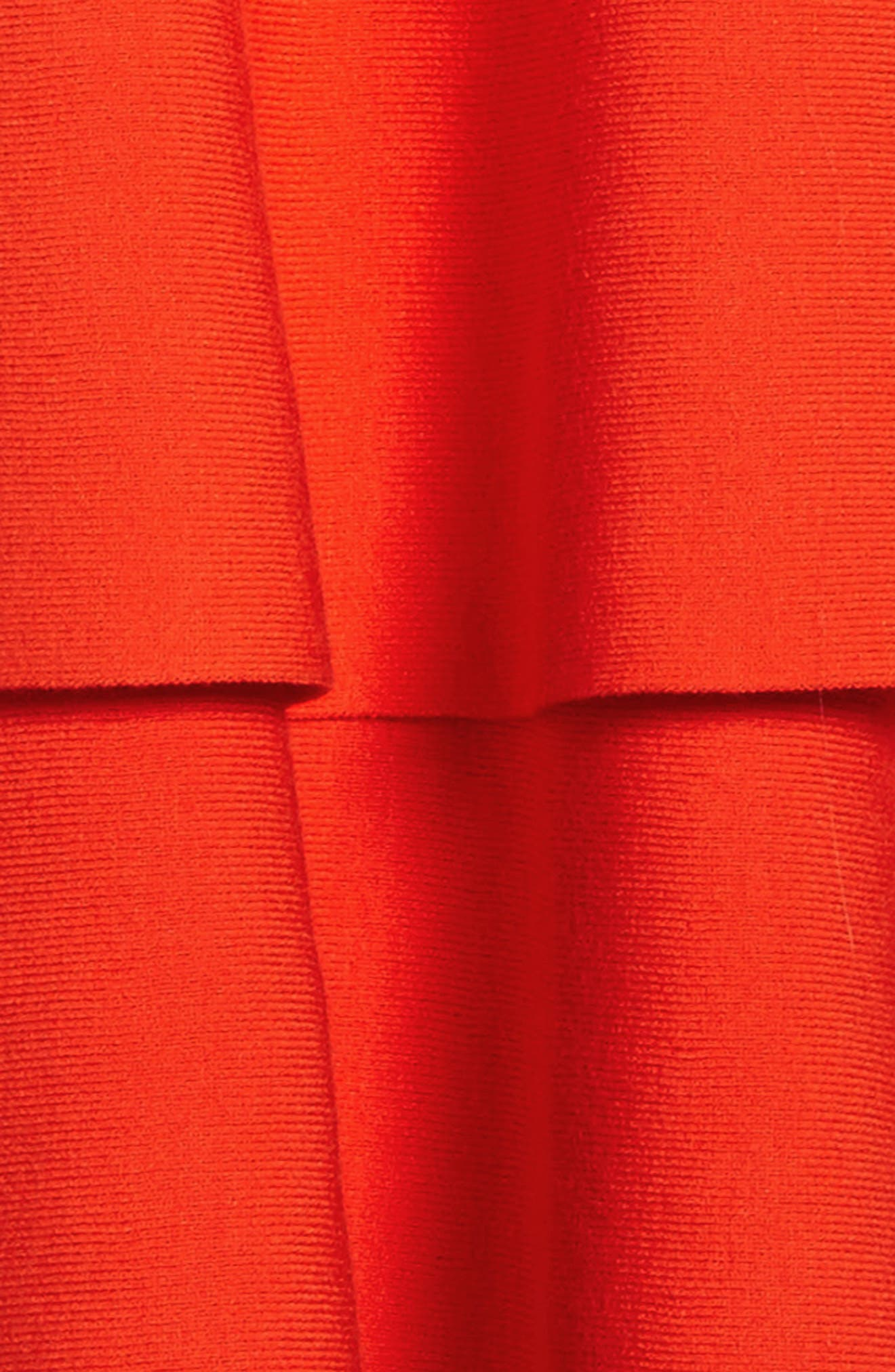 Tiered Dress,                             Alternate thumbnail 3, color,                             Poppy