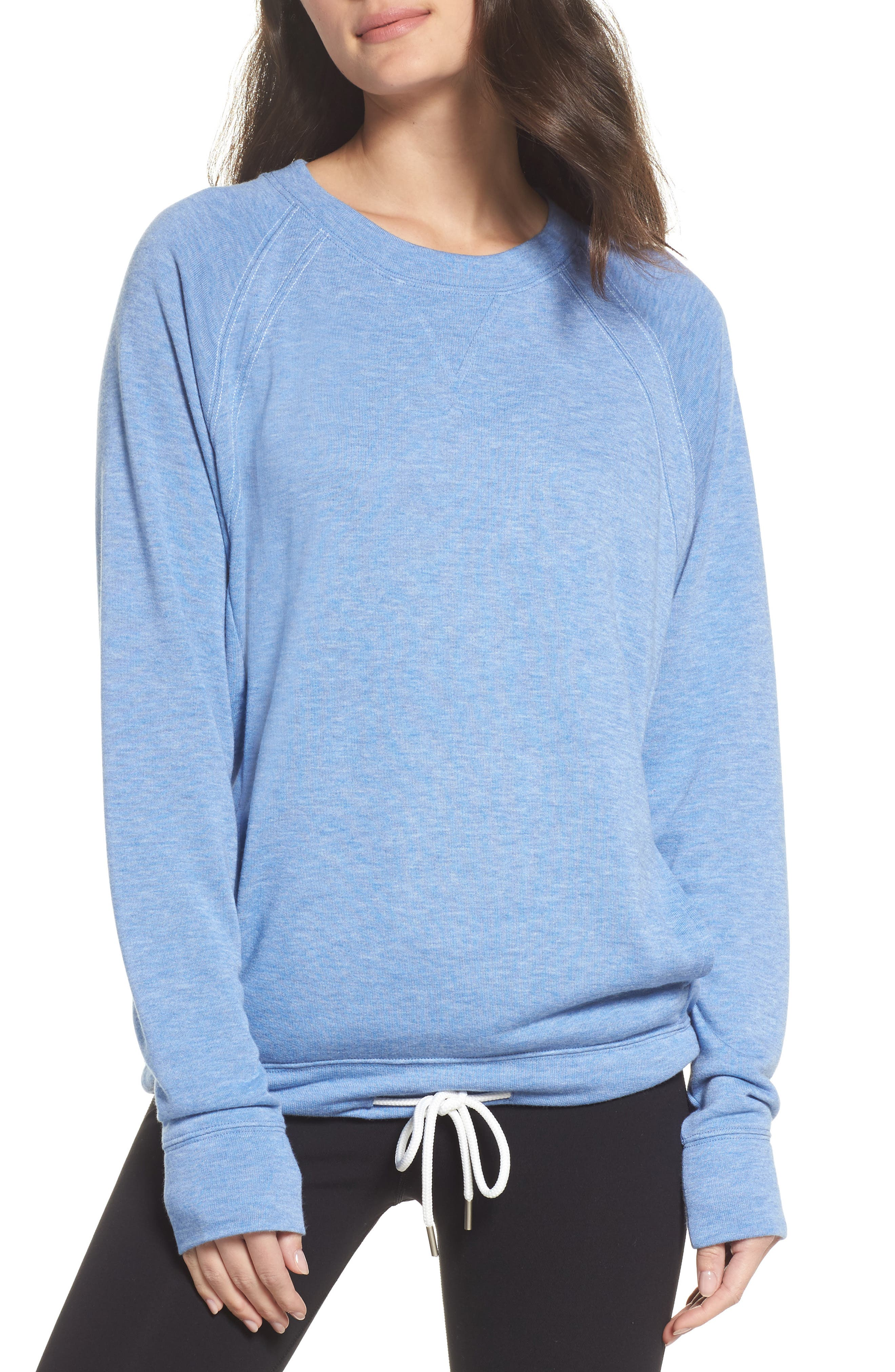 Draw Em In Pullover,                         Main,                         color, Blue Haze Heather
