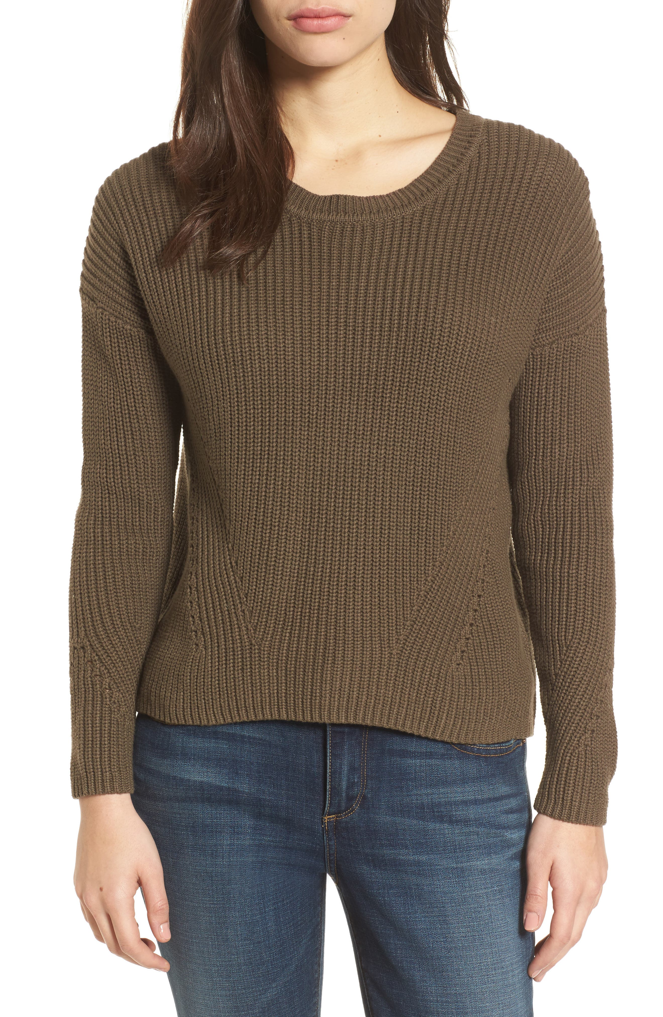 Alternate Image 1 Selected - Lucky Brand Lace-Up Back Sweater