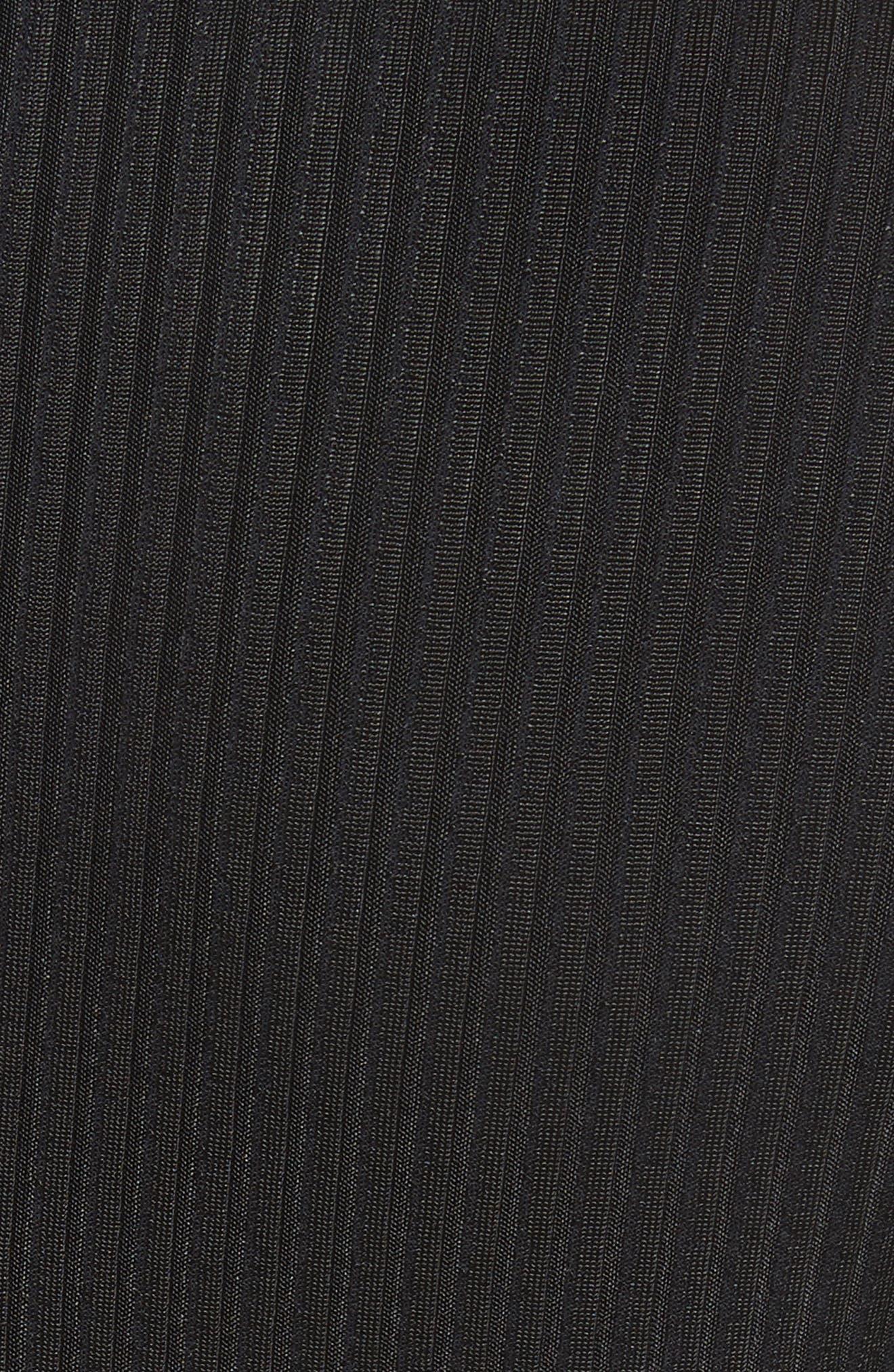 Sunshine Kid Ribbed Minidress,                             Alternate thumbnail 6, color,                             Black