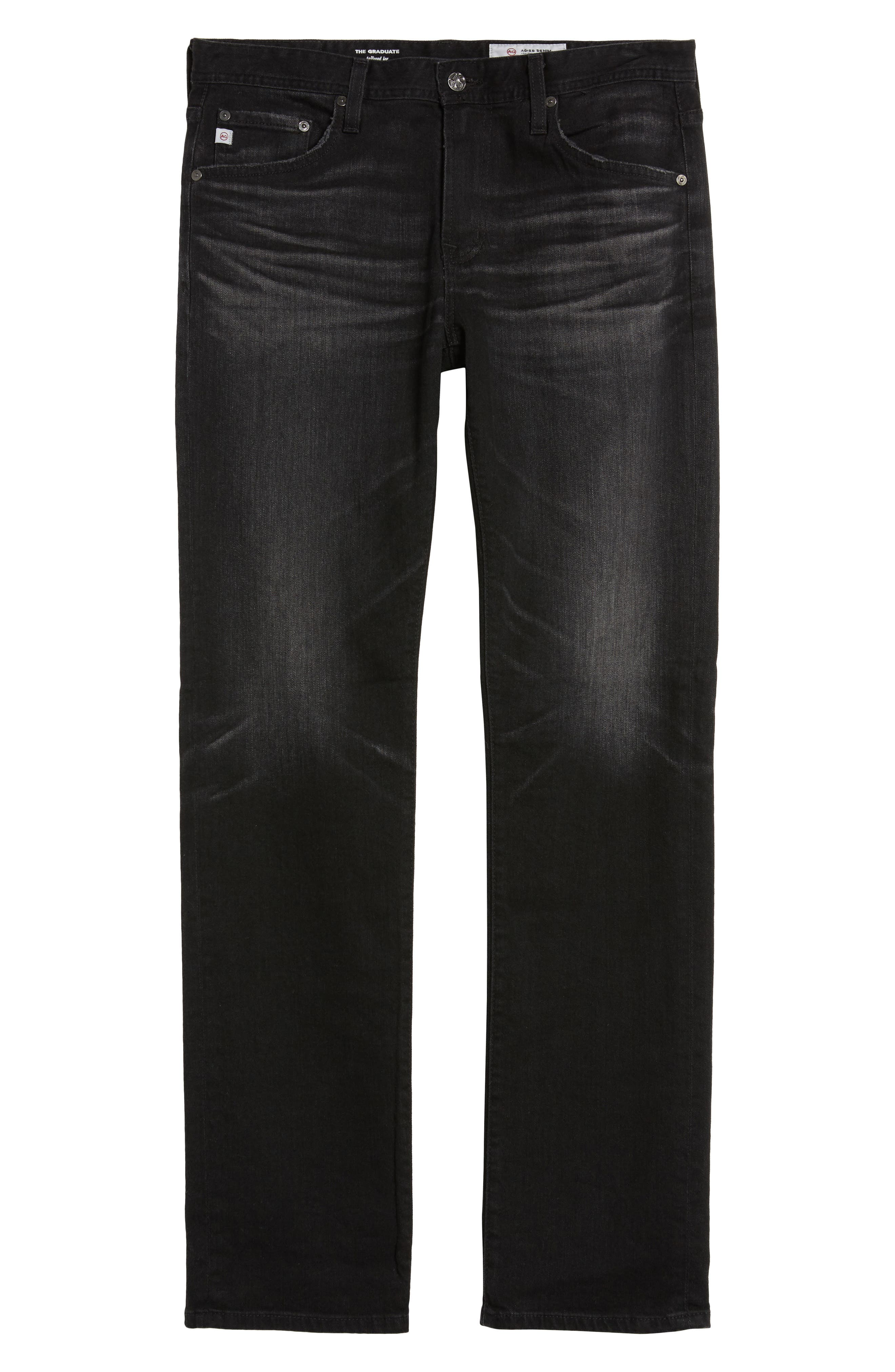 Graduate Slim Straight Fit Jeans,                             Alternate thumbnail 6, color,                             4 Years Down