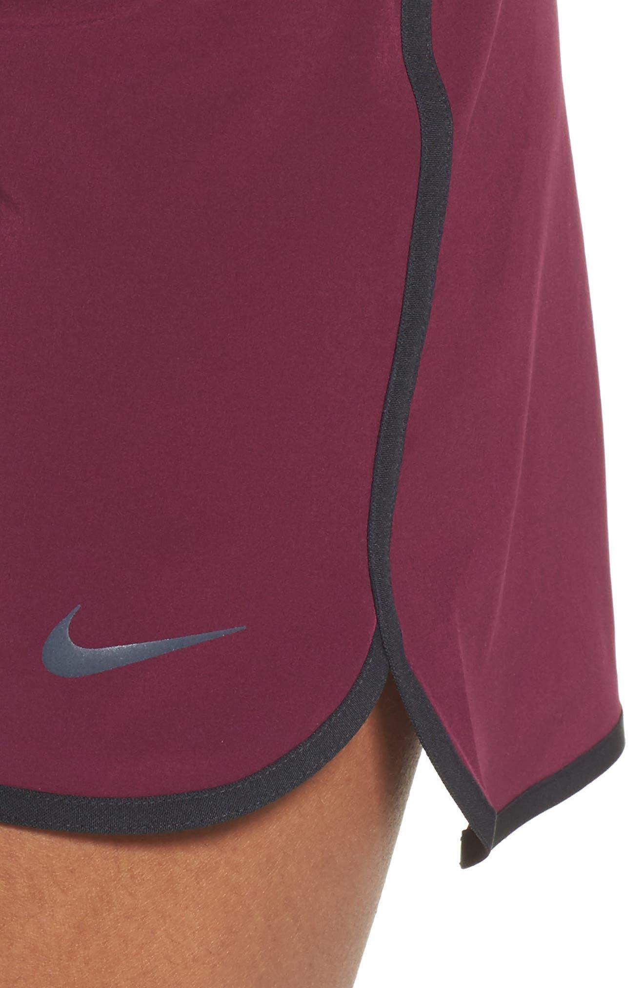 Flex Tennis Skirt,                             Alternate thumbnail 4, color,                             Burgundy