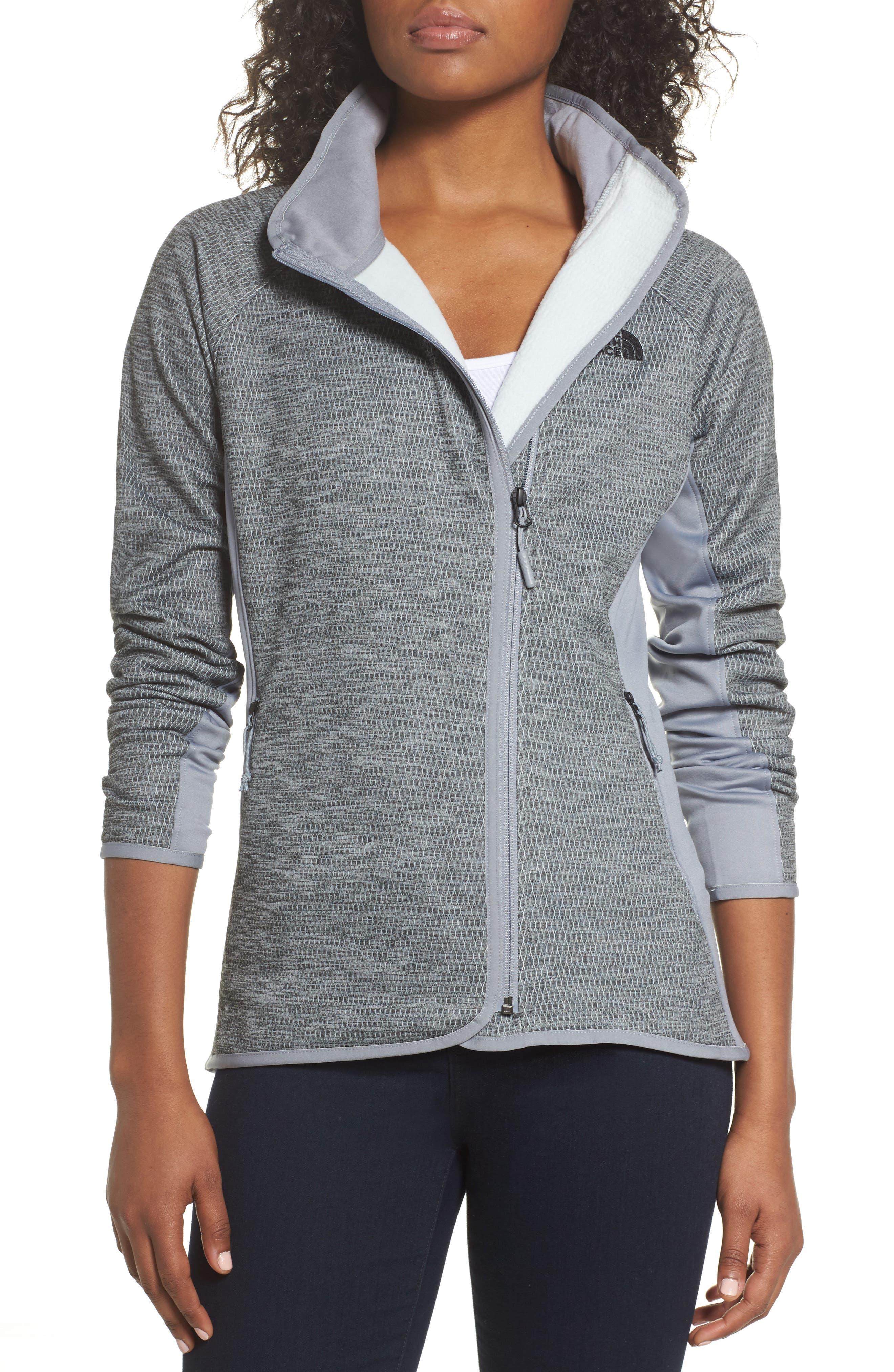 Arcata Zip Jacket,                             Main thumbnail 1, color,                             Tnf Mid Grey Heather/ Black