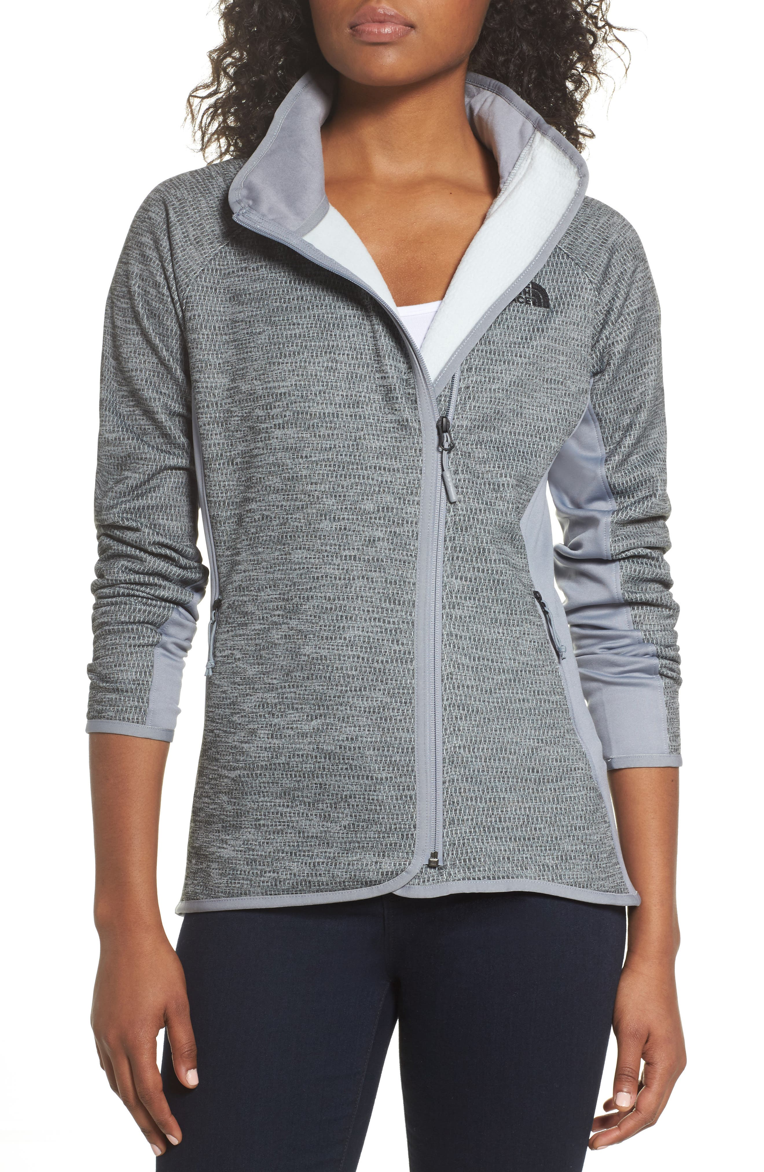 Arcata Zip Jacket,                         Main,                         color, Tnf Mid Grey Heather/ Black