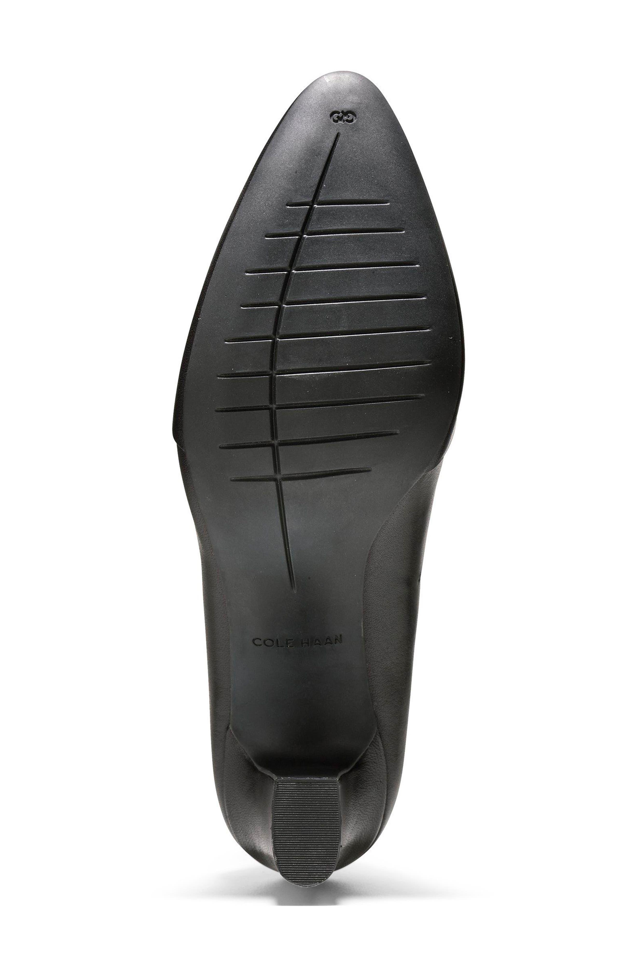 Kinslee Pump,                             Alternate thumbnail 6, color,                             Black Leather
