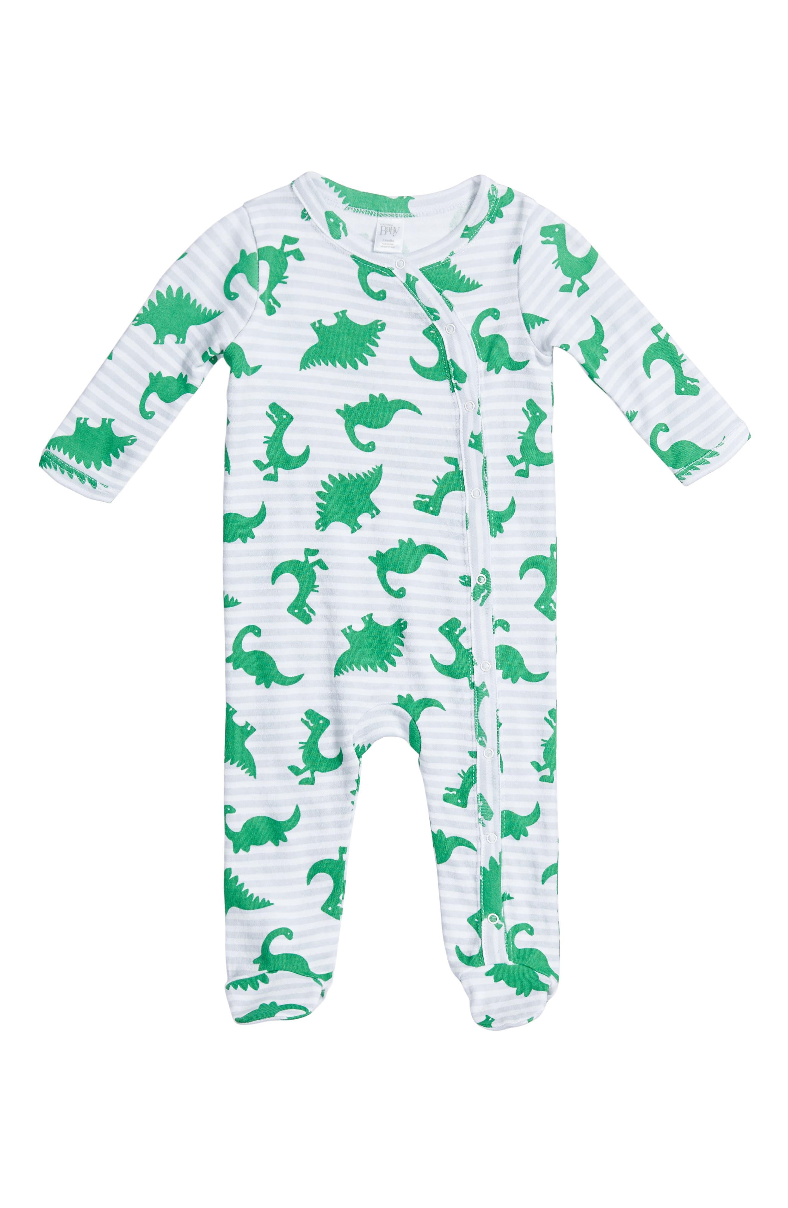 Main Image - Nordstrom Baby Print Footie (Baby)