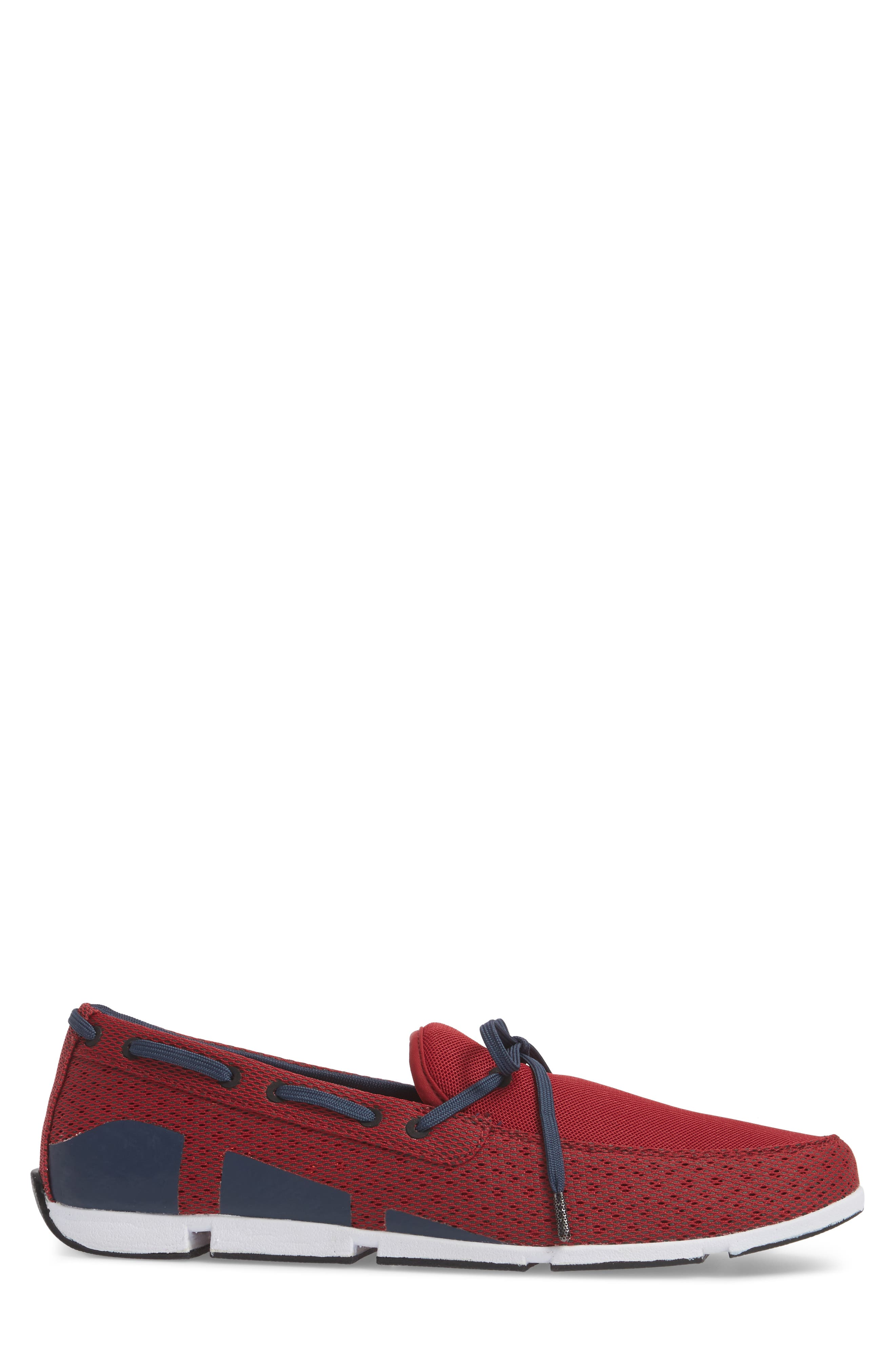 Breeze Loafer,                             Alternate thumbnail 6, color,                             Deep Red/ Navy/ White