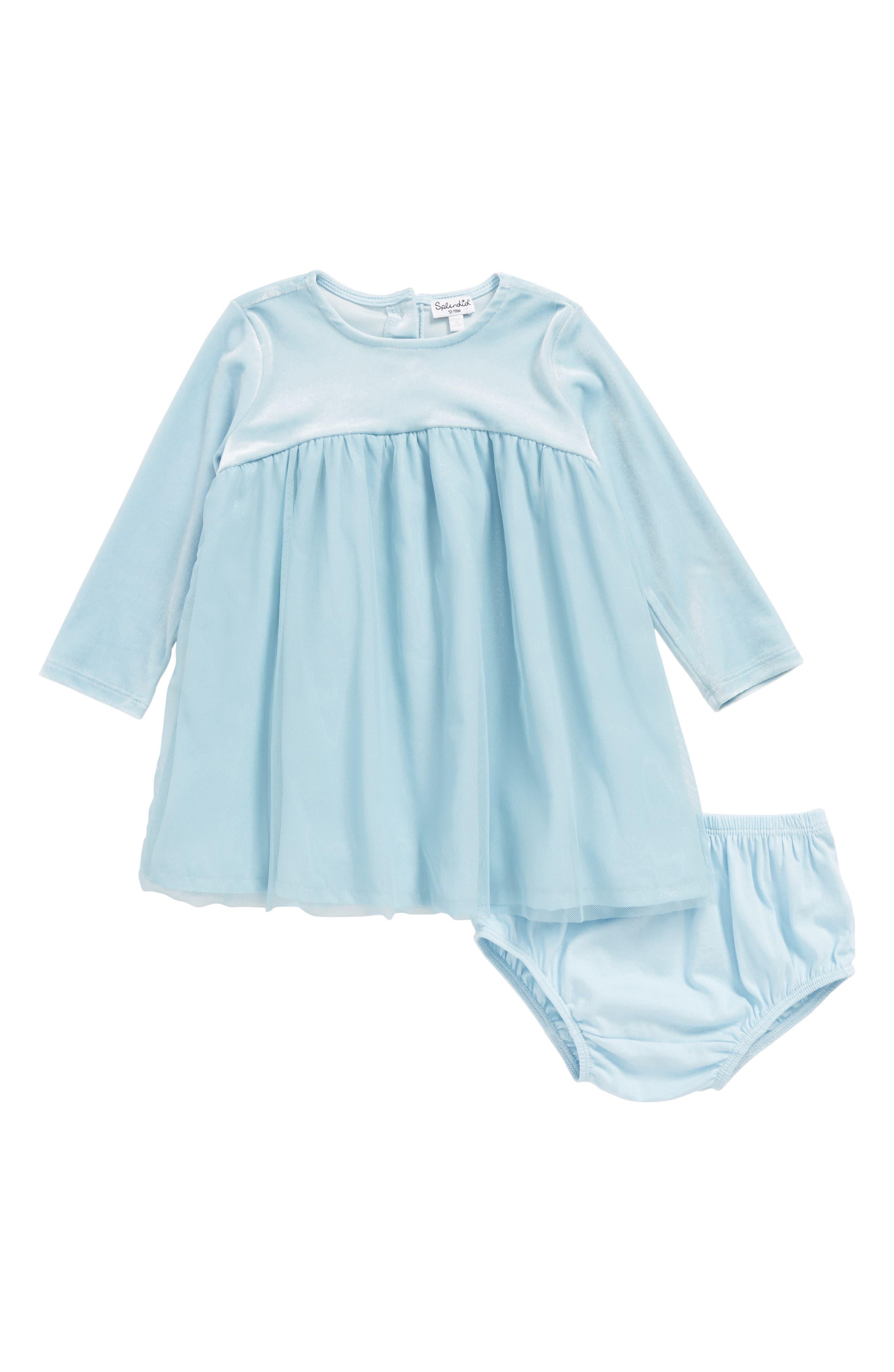 Tulle Dress,                         Main,                         color, Light Blue