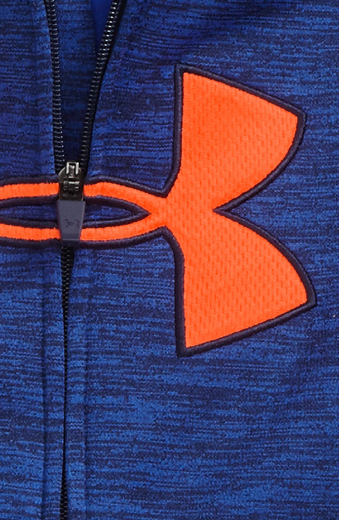 Alternate Image 2  - Under Armour Big Logo Zip-Up Hoodie (Toddler Boys & Little Boys)