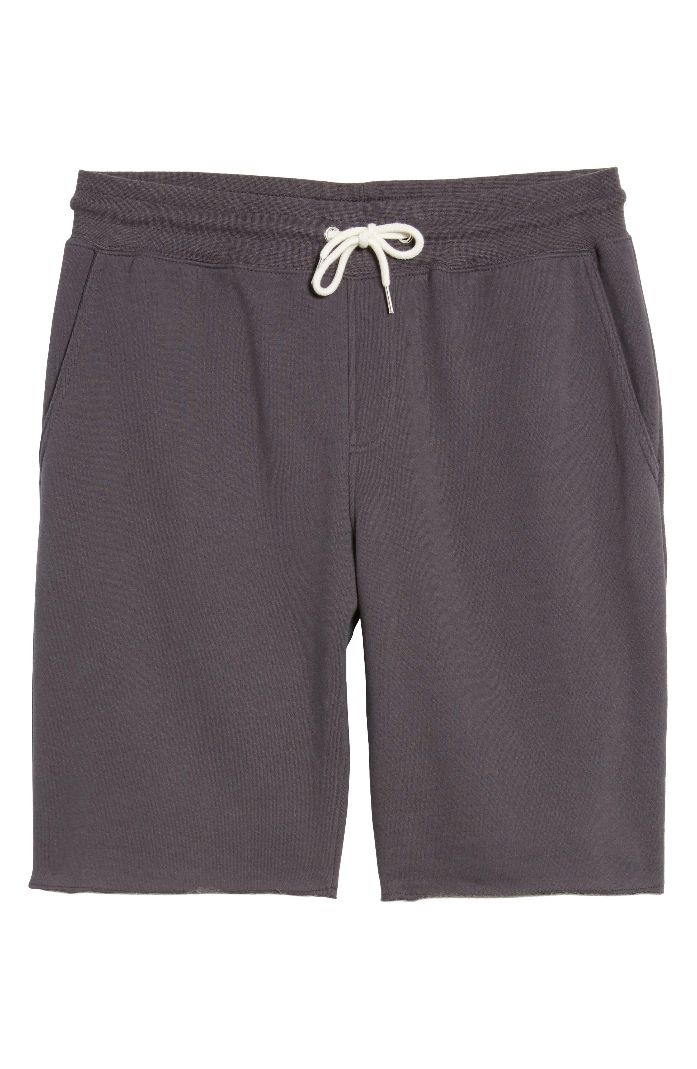 Fleece Shorts,                             Alternate thumbnail 6, color,                             Grey Onyx