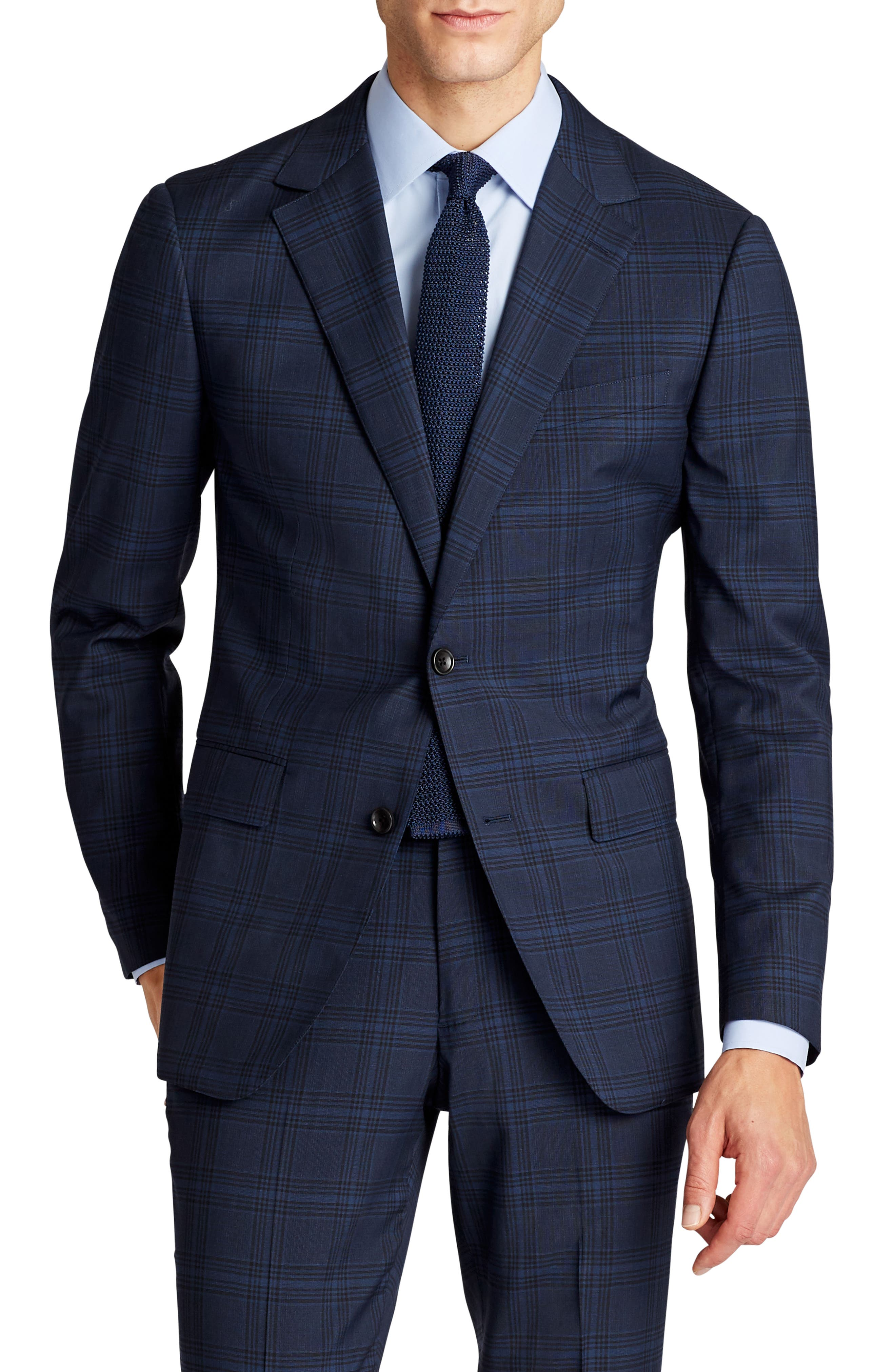 Alternate Image 1 Selected - Bonobos Jetsetter Trim Fit Stretch Plaid Wool Blend Suit Jacket