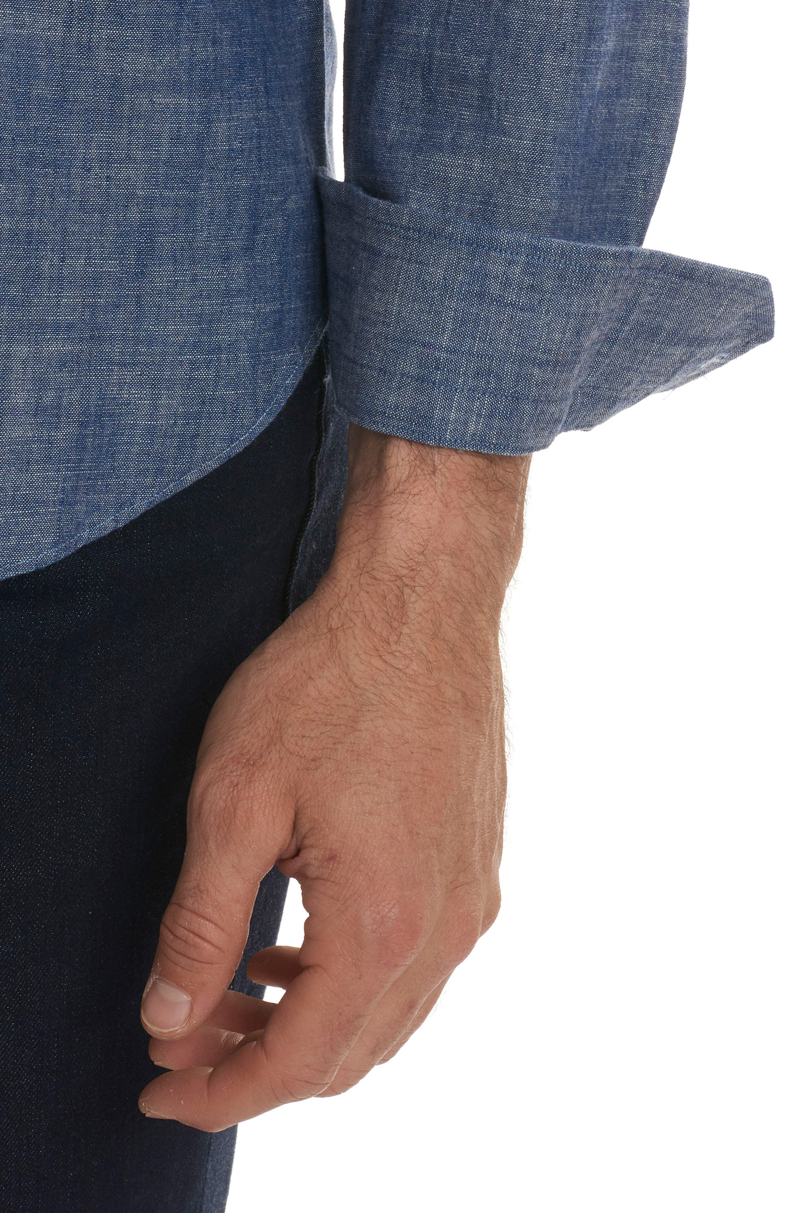 Peperill Regular Fit Sport Shirt,                             Alternate thumbnail 2, color,                             Denim