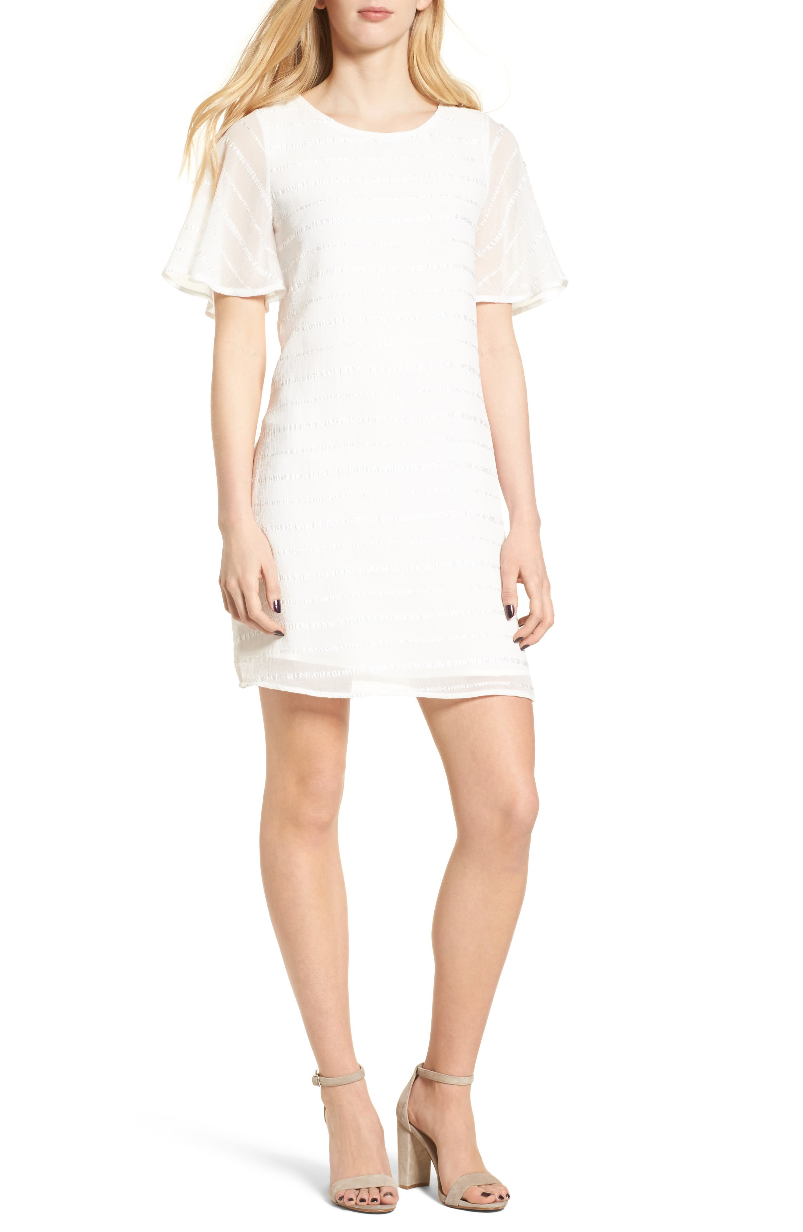 Shift Dress,                         Main,                         color, Ivory