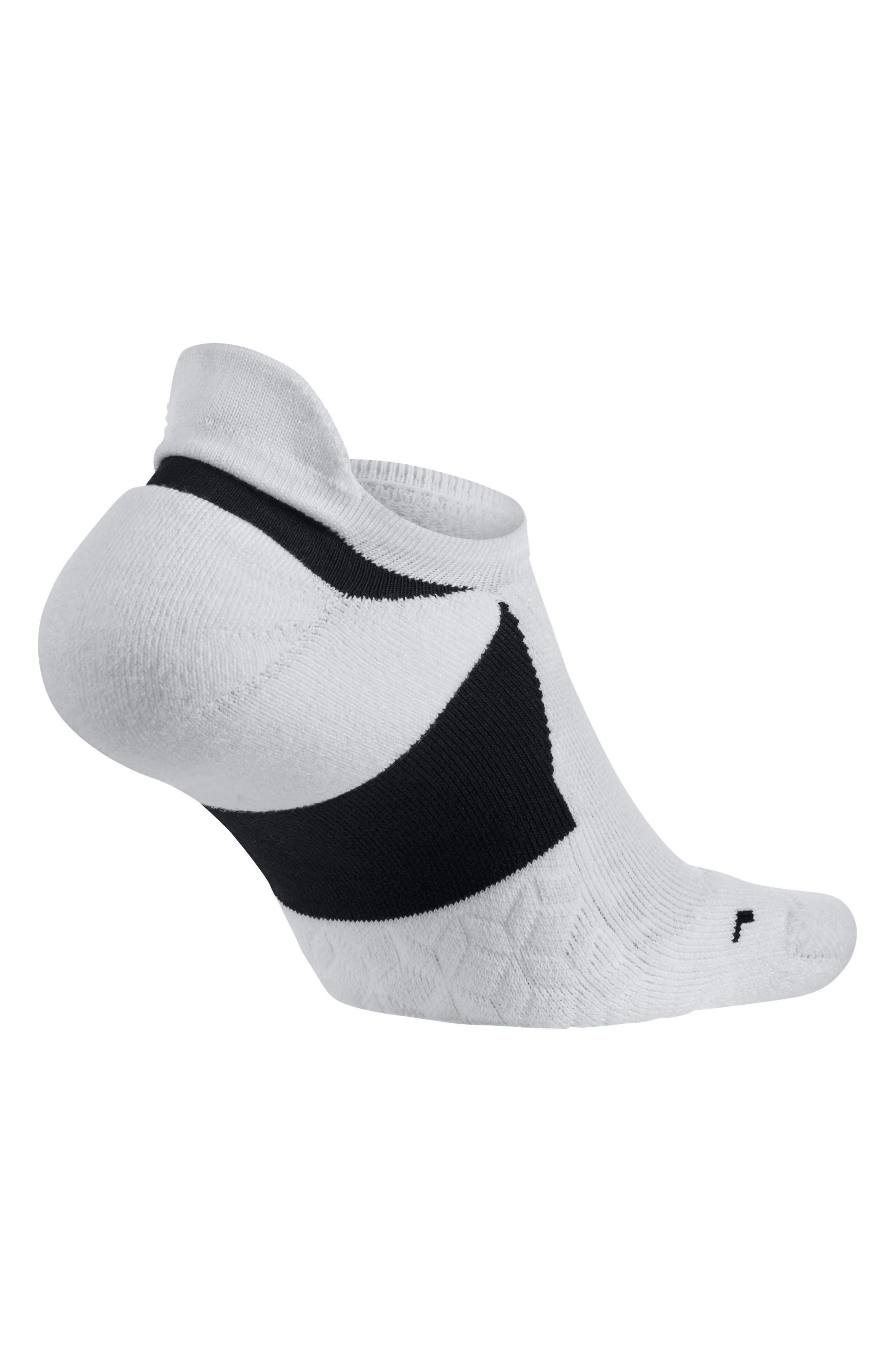 Alternate Image 3  - Nike Elite Cushioned No-Show Tab Running Socks
