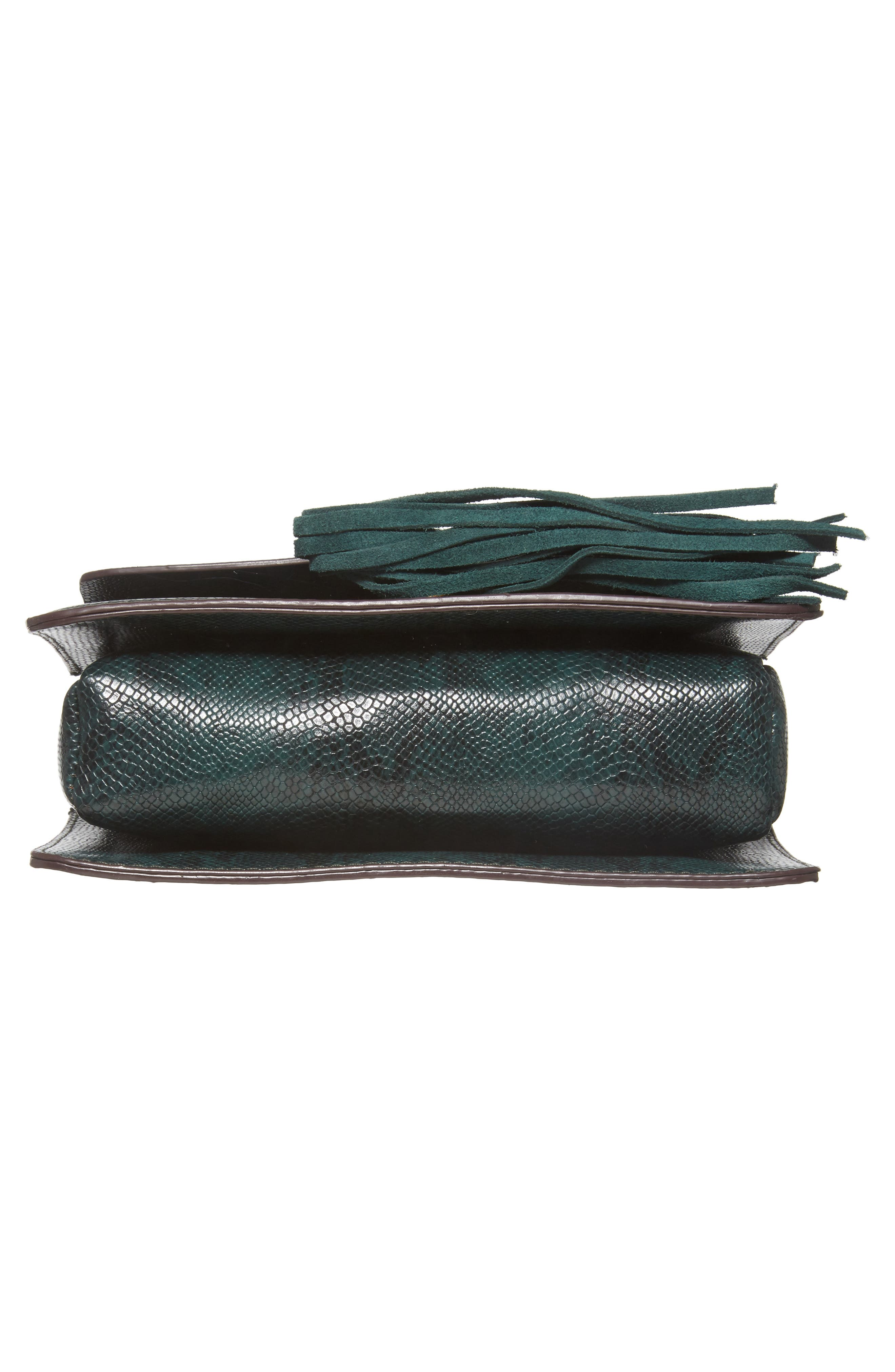 Alternate Image 5  - Street Level Snake Embossed Faux Leather Crossbody Bag