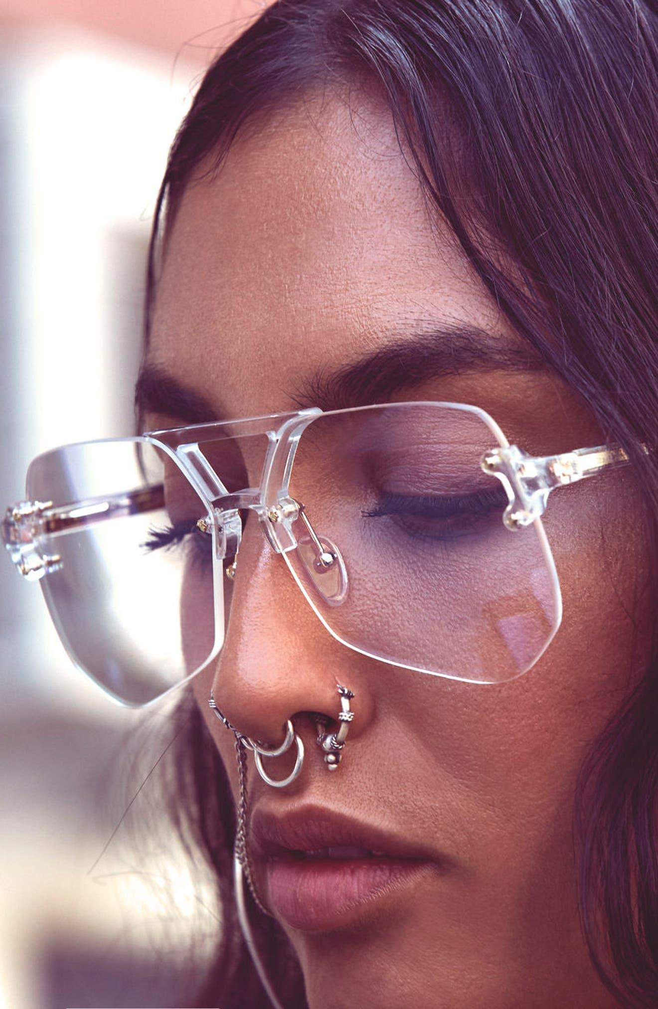Yesway 60mm Optical Glasses,                             Alternate thumbnail 6, color,                             Gold / Tortoise