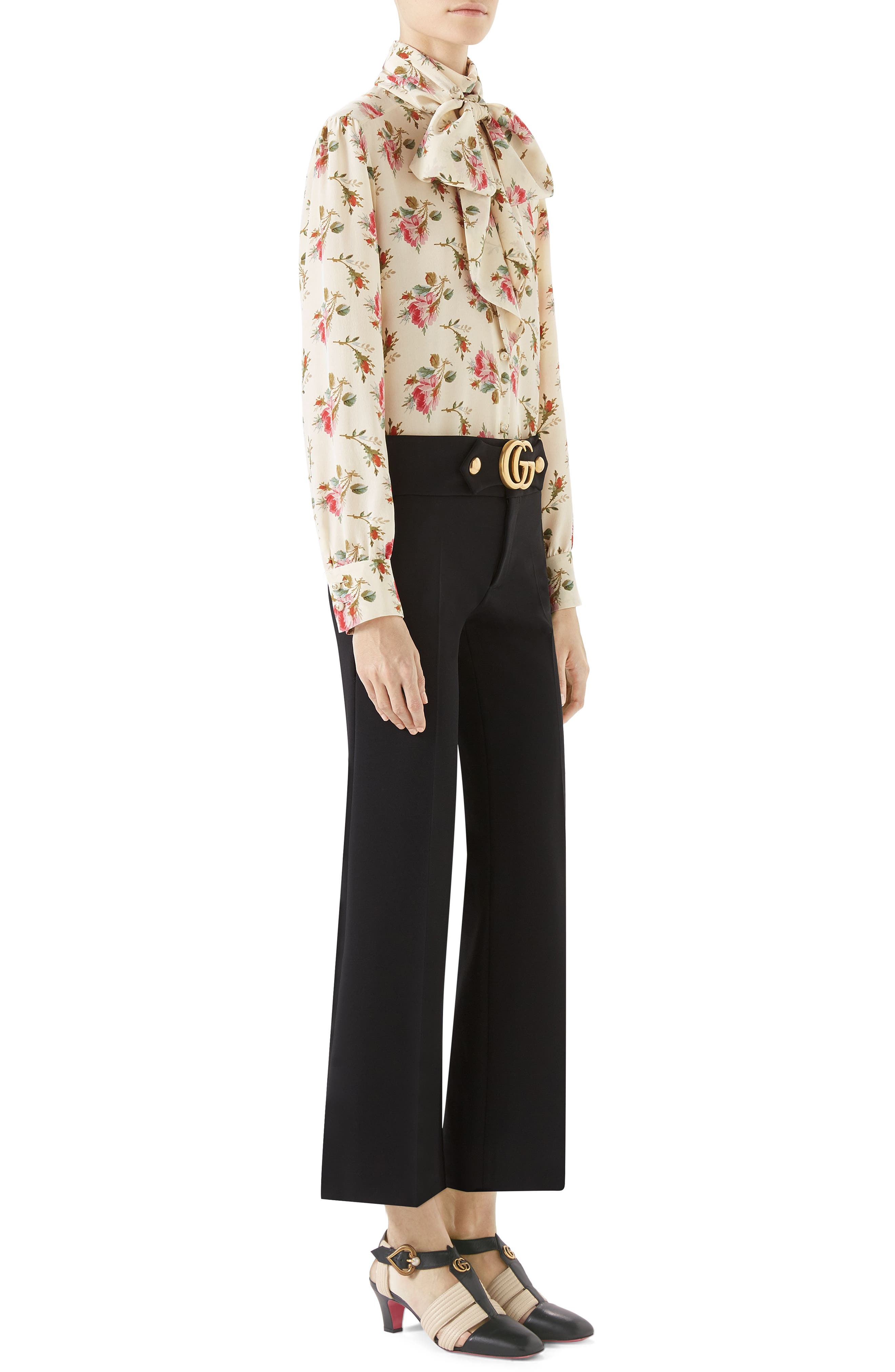 Alternate Image 5  - Gucci Marmont Stretch Jersey Crop Pants