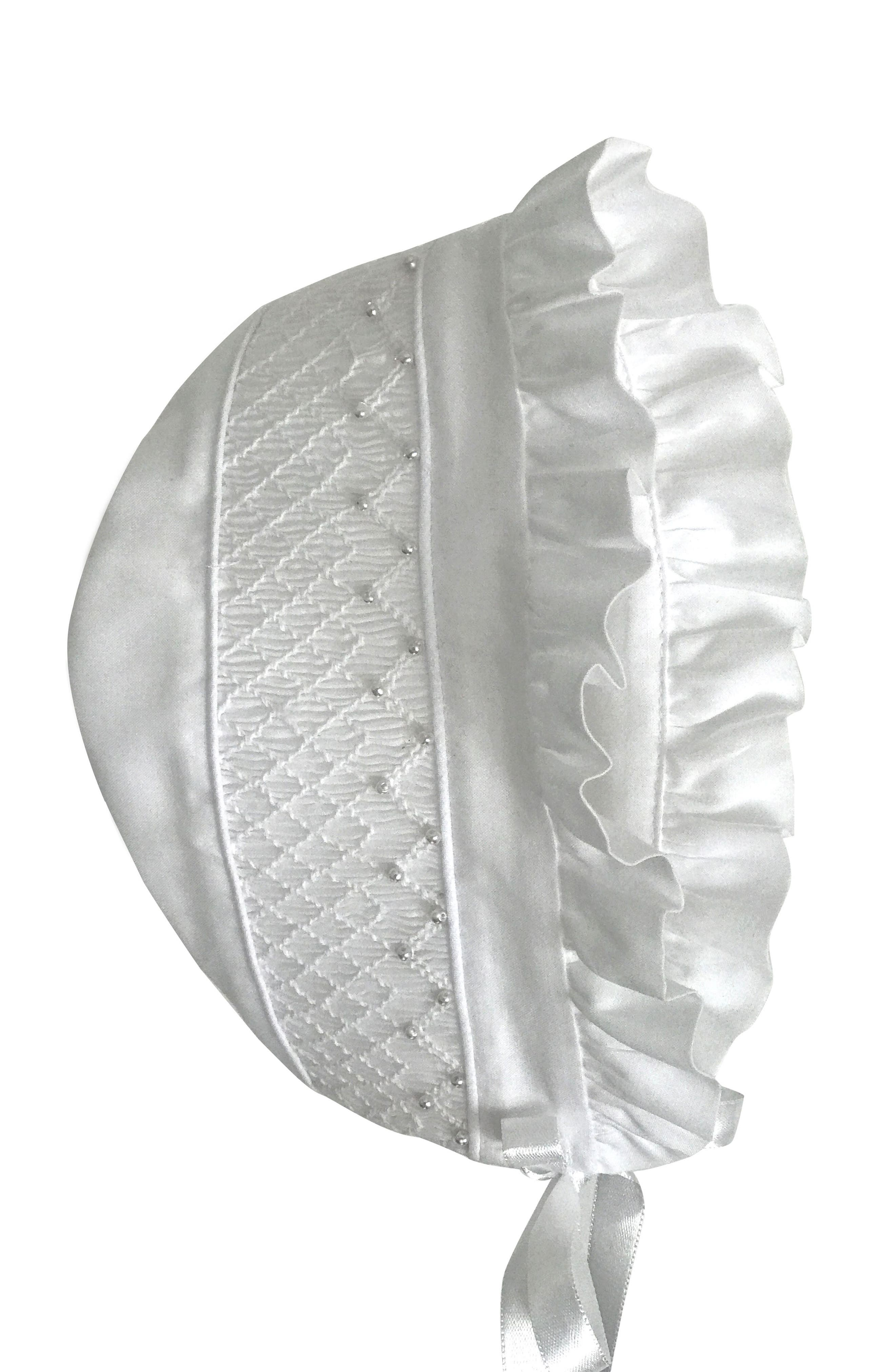Alternate Image 3  - Isabel Garreton 'Pearls' Christening Gown & Bonnet (Baby)