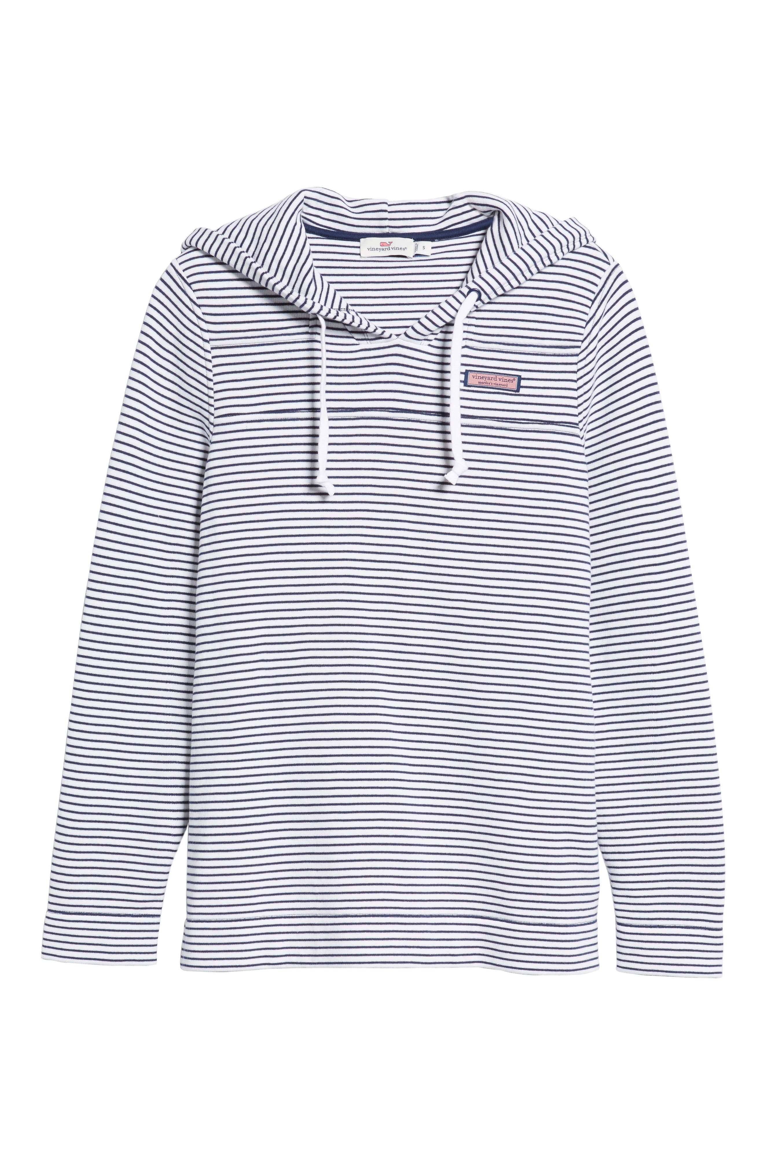 Island Stripe Shep Hoodie Shirt,                             Alternate thumbnail 6, color,                             Deep Bay