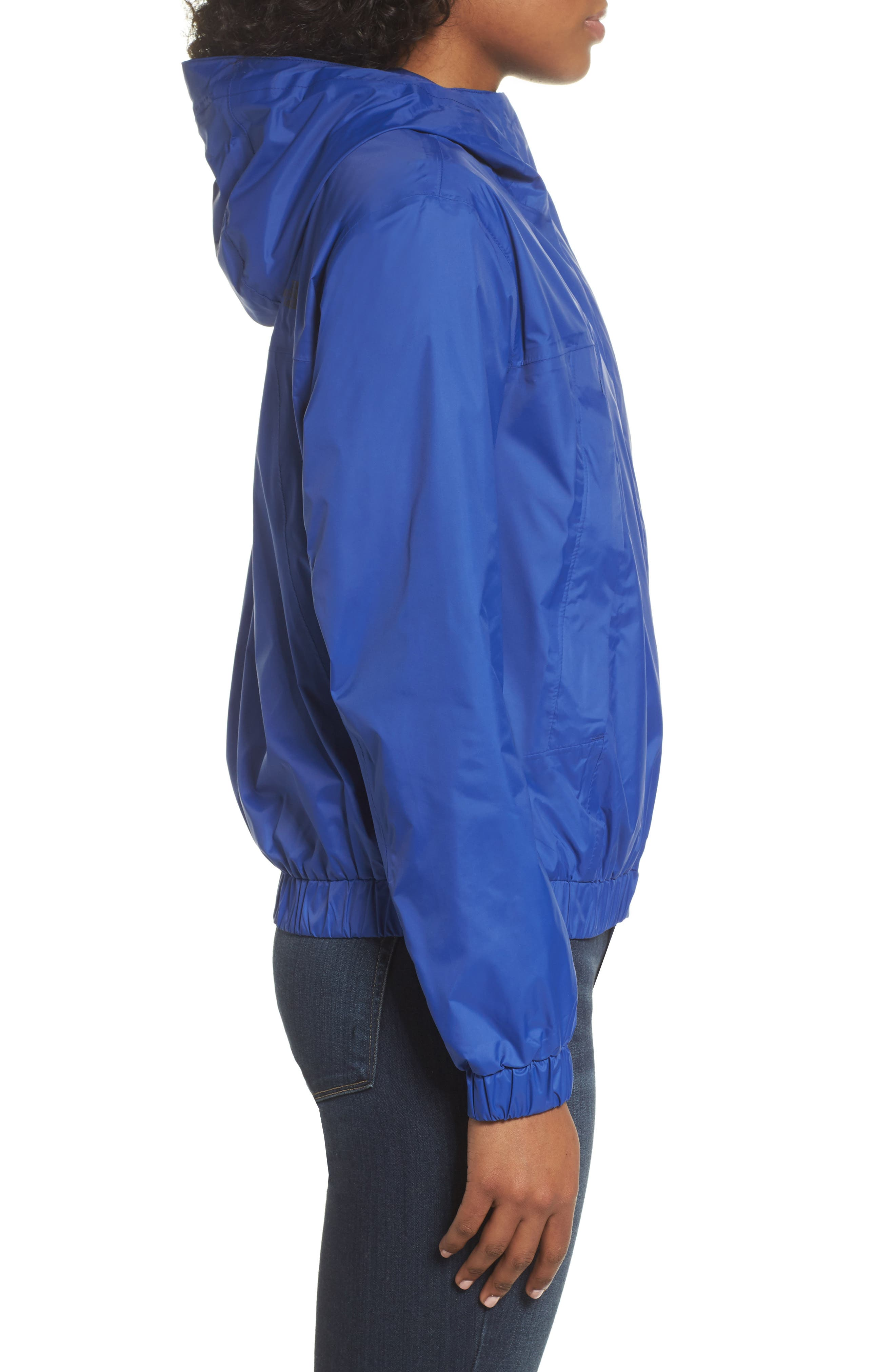 Precita Rain Jacket,                             Alternate thumbnail 6, color,                             Sodalite Blue